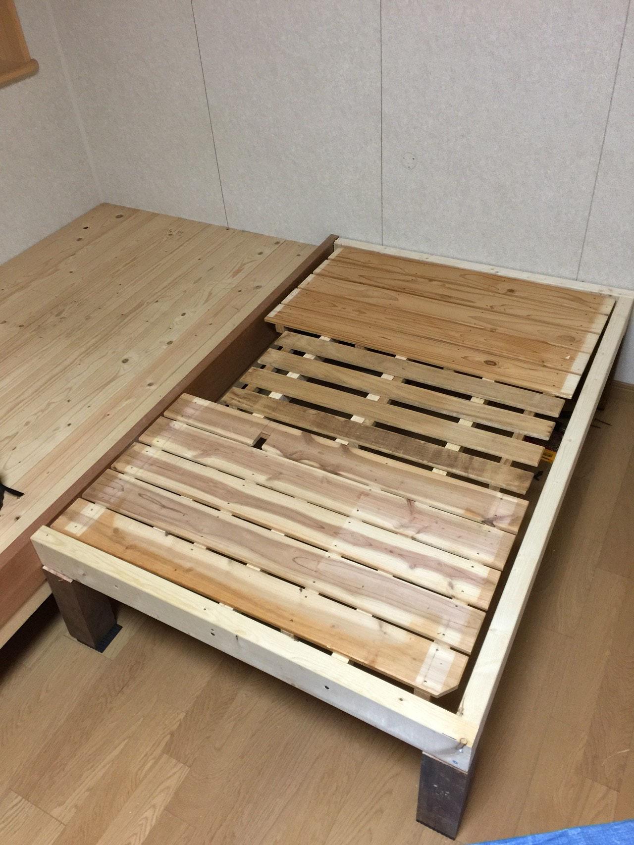 (3)スノコを床材に
