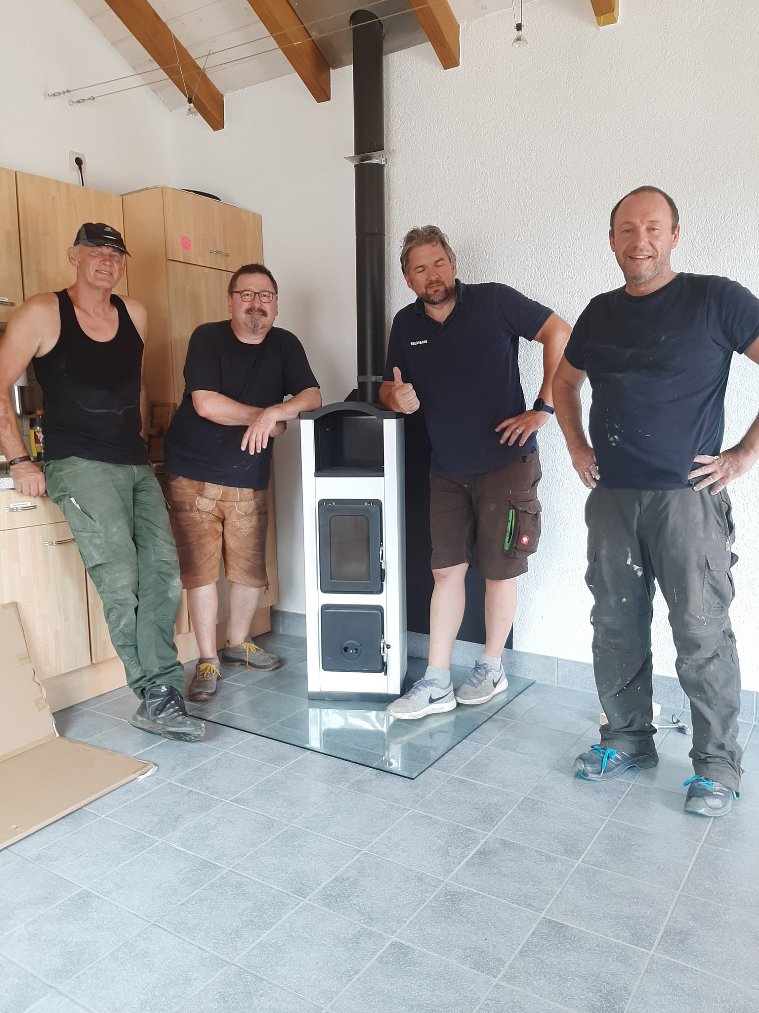 Dankeschön an Robert,Thomas, Klaus und Jürgen (von links nach rechts)