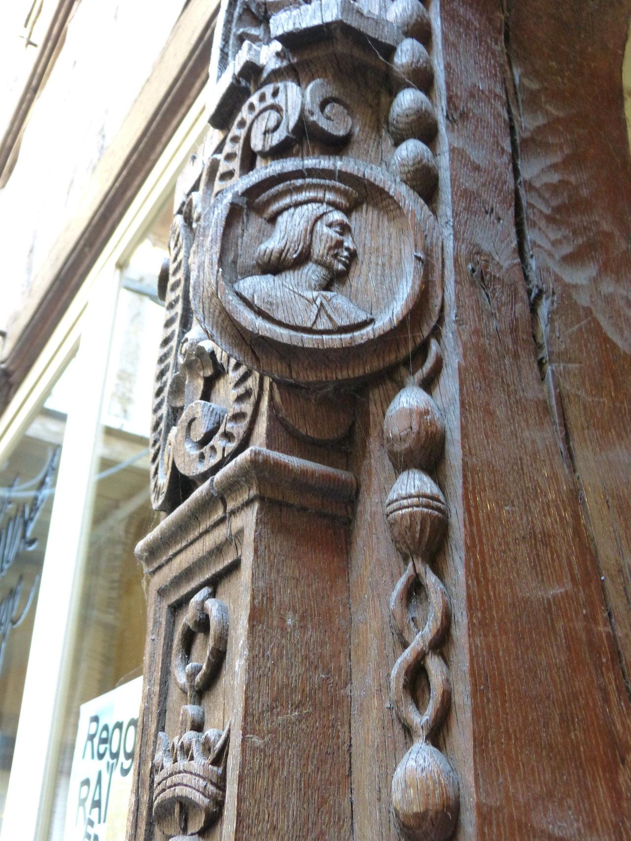 détail cour intérieure à Troyes