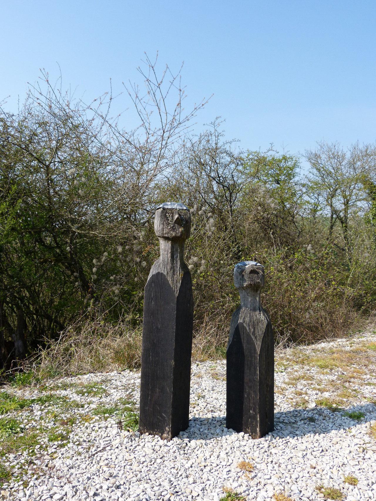 statues au moulin de Dosches