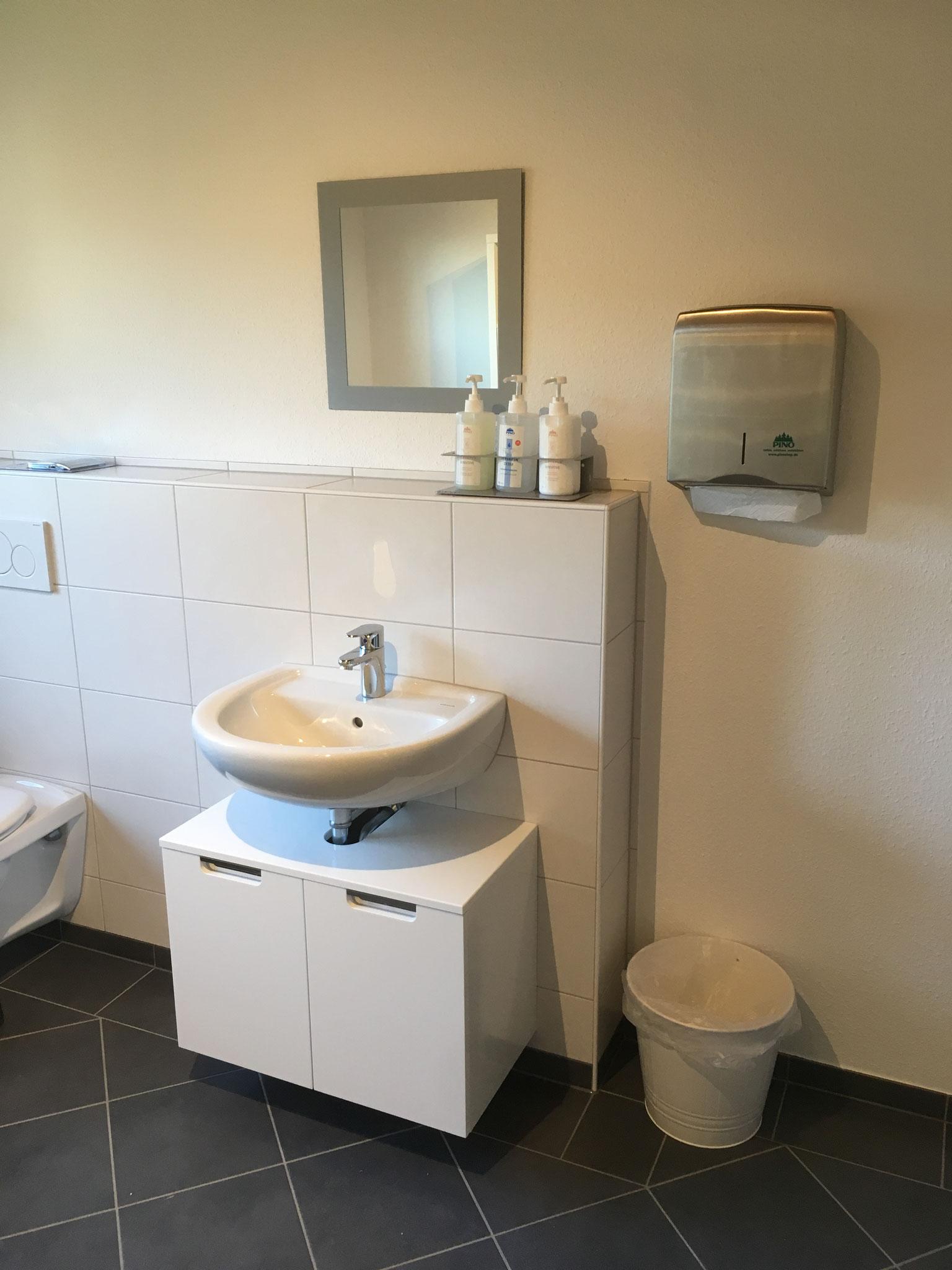 WC: groß und geräumig.