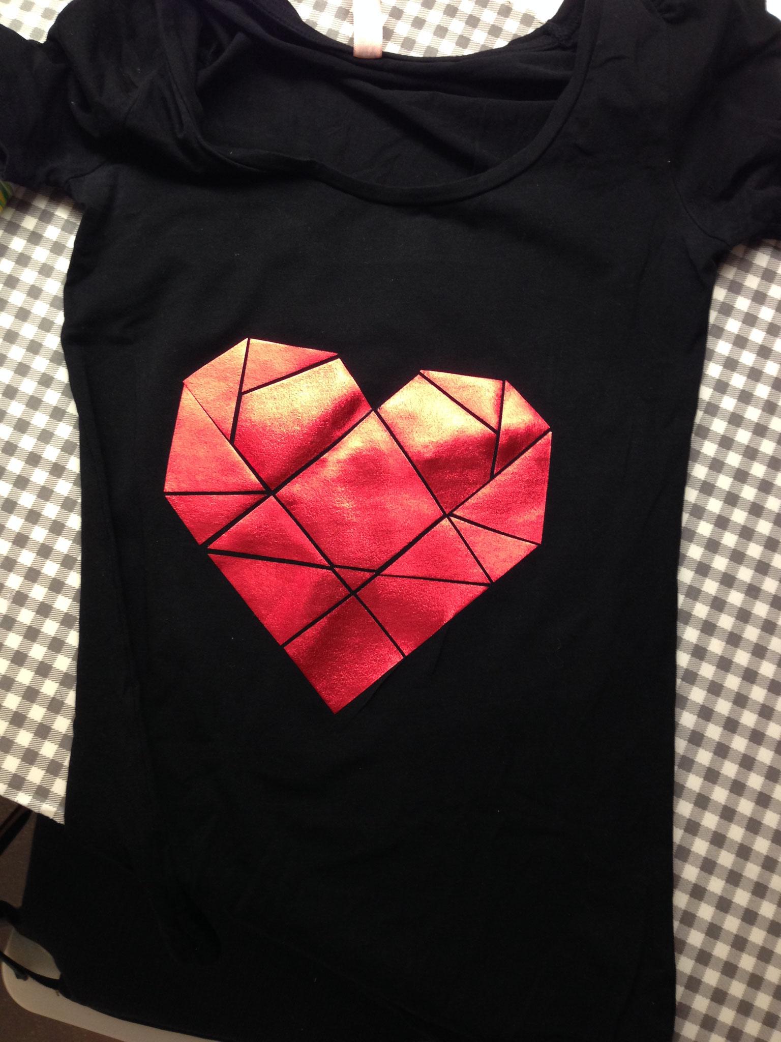 Shirt mit Herz-Druck
