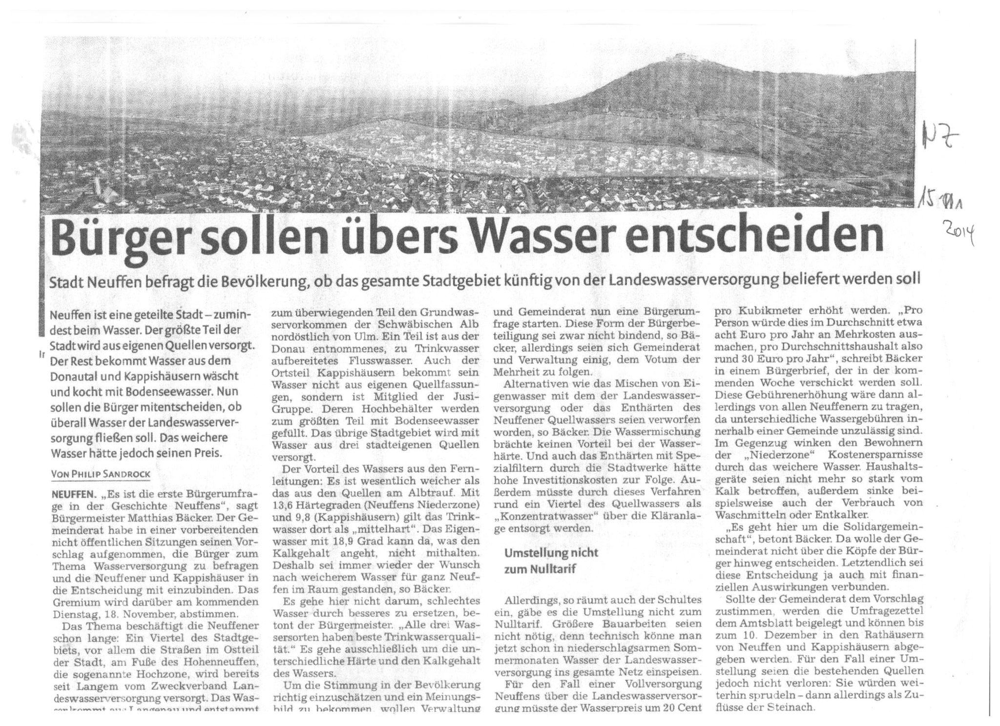 Pressebericht über den Gemeinderatsbeschluss