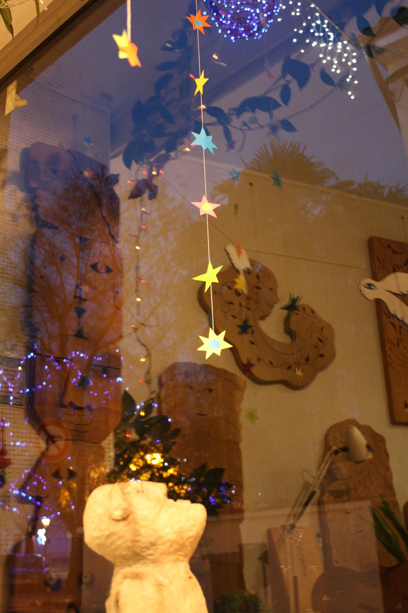 Mon atelier aux lumières des fêtes de fin d'année 2020.