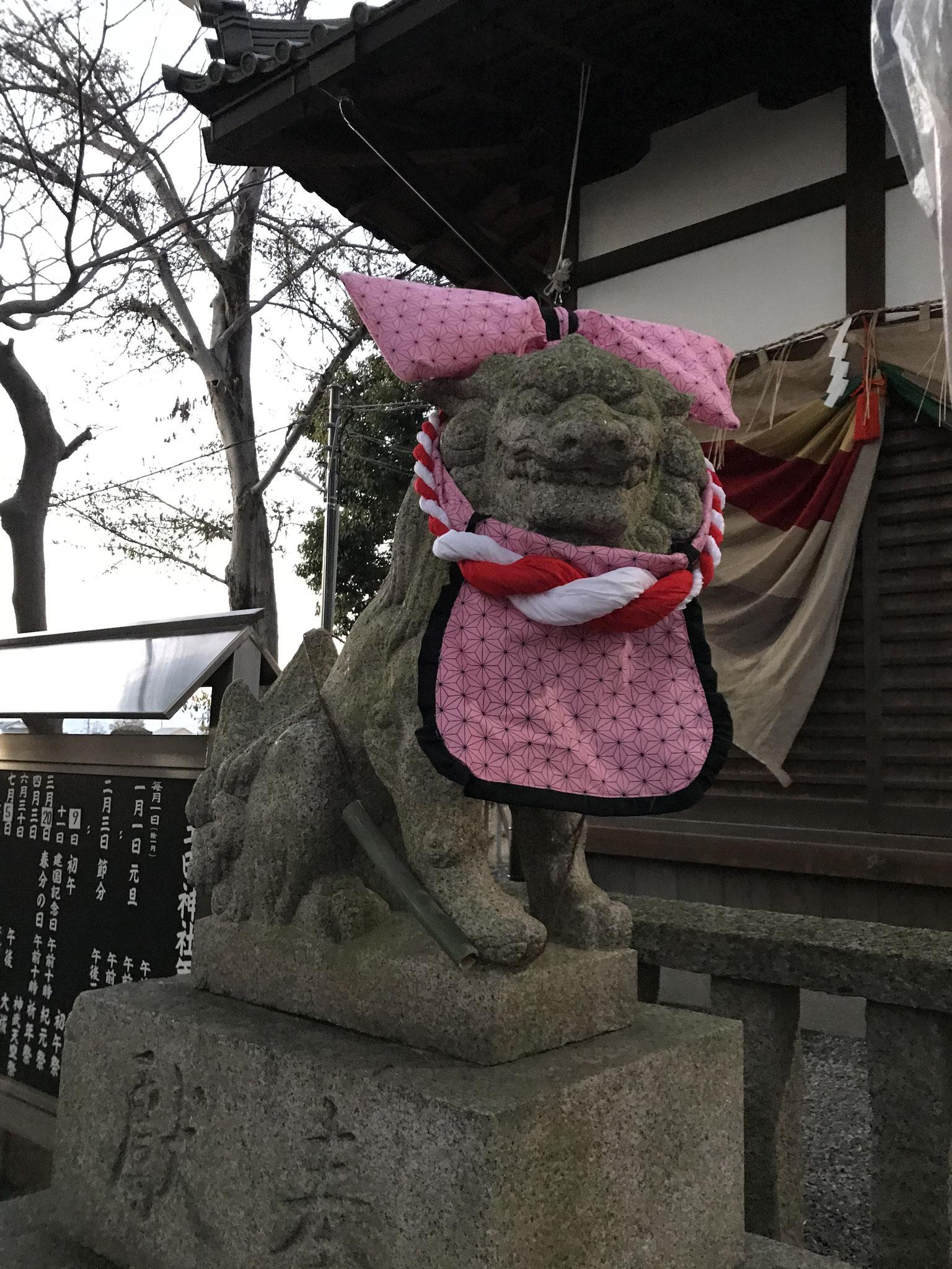 狛犬(禰◯子風)