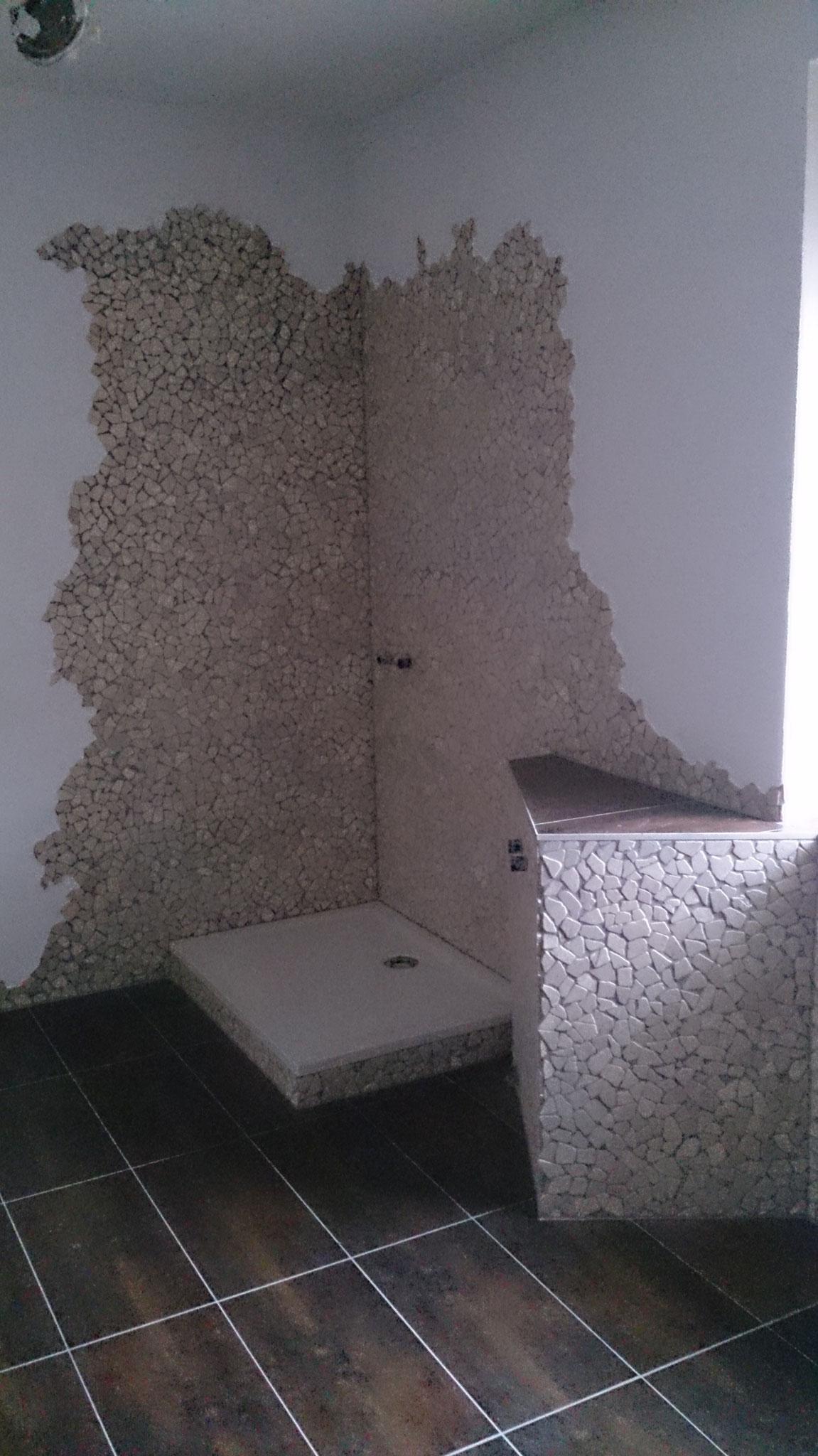 Duschbereich ohne Seitenwände