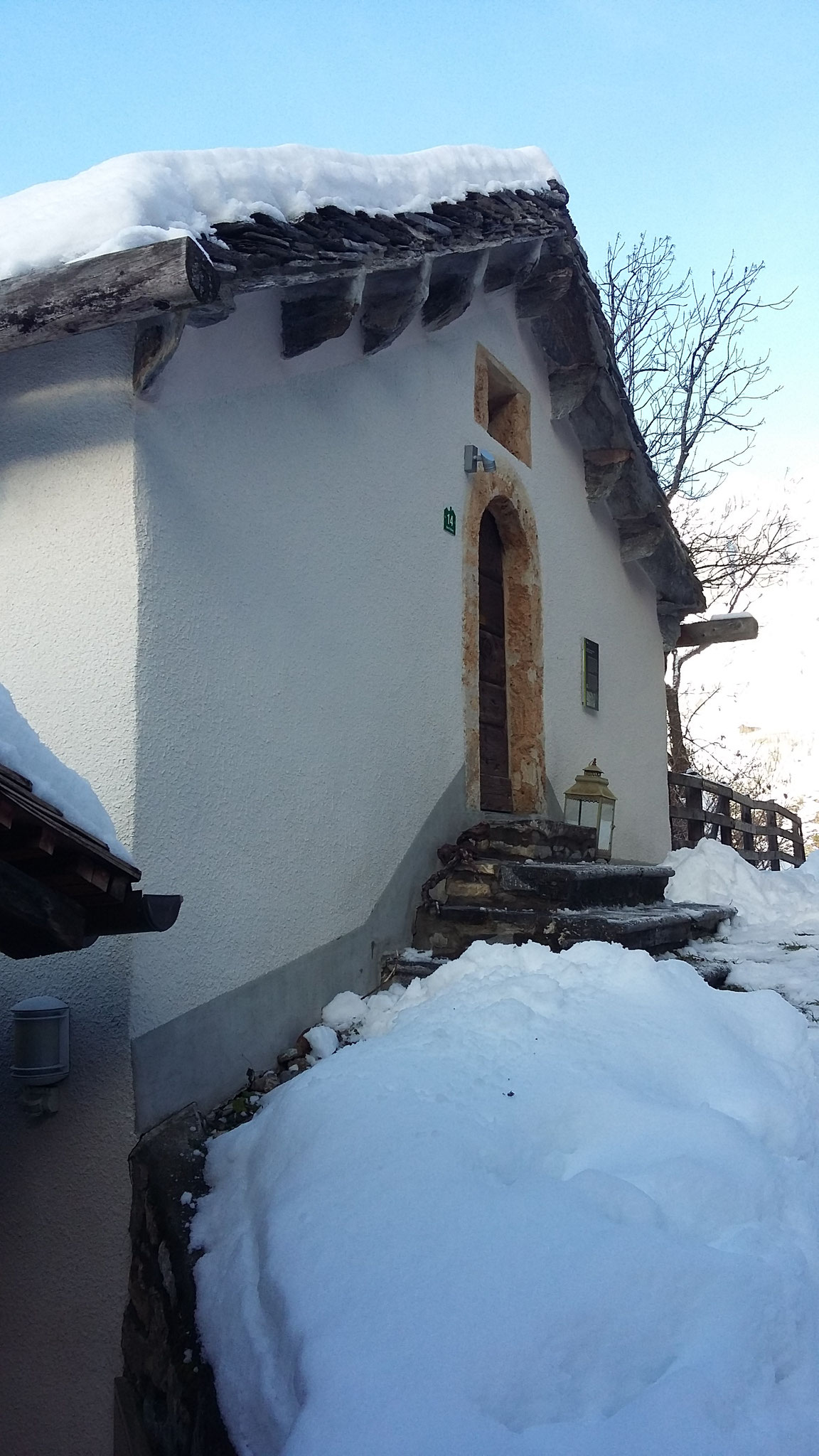 Wintereindruck: der Eingang