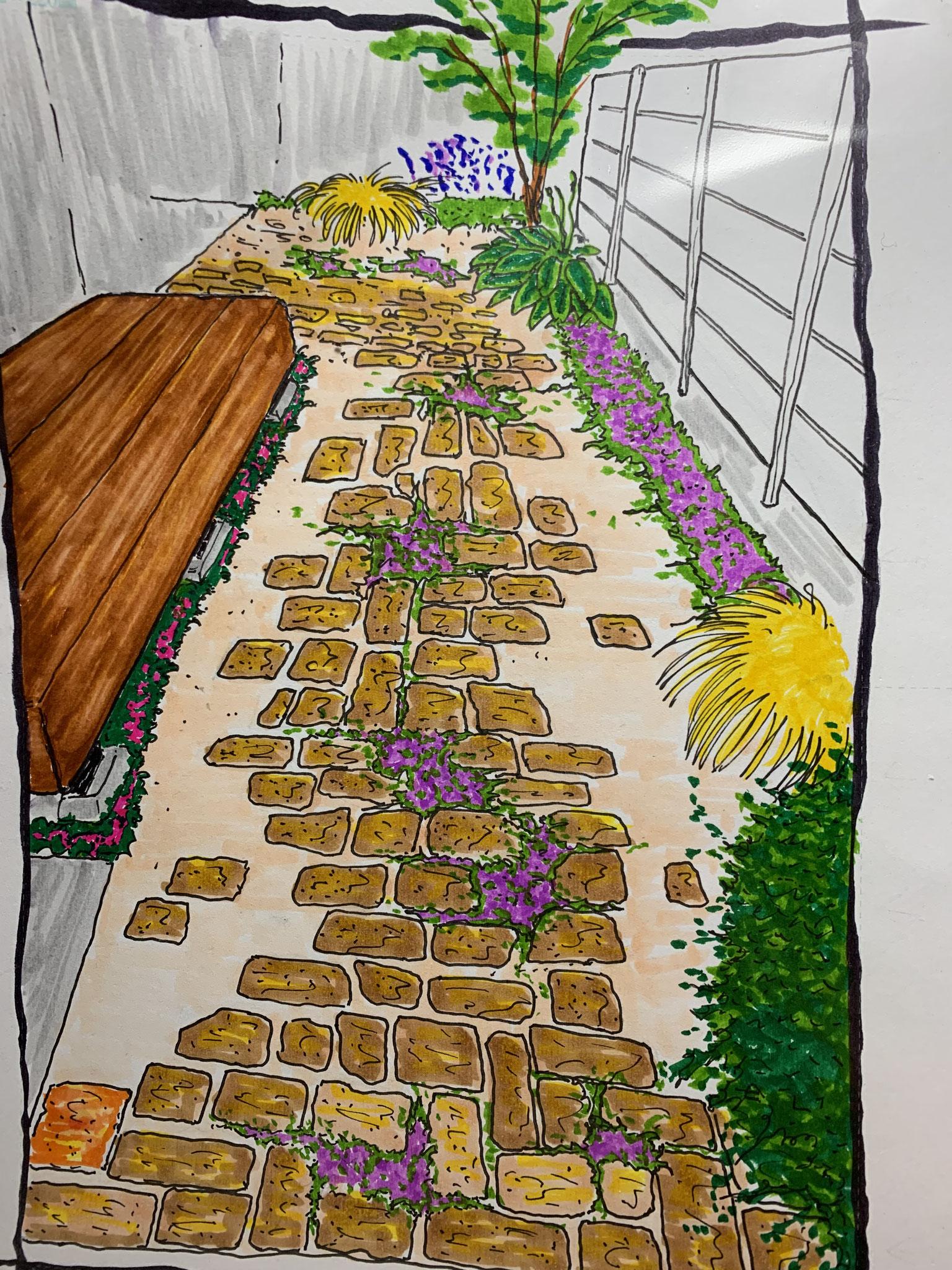 お庭のリフォームデザイン