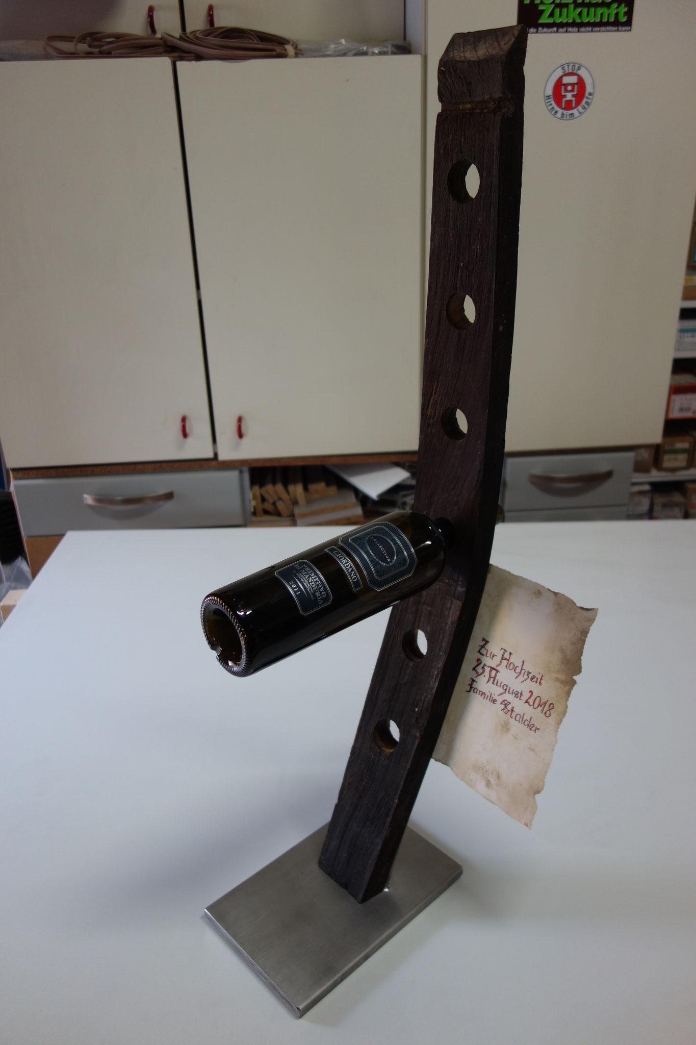 Weingestell Holz original vom Weinfass