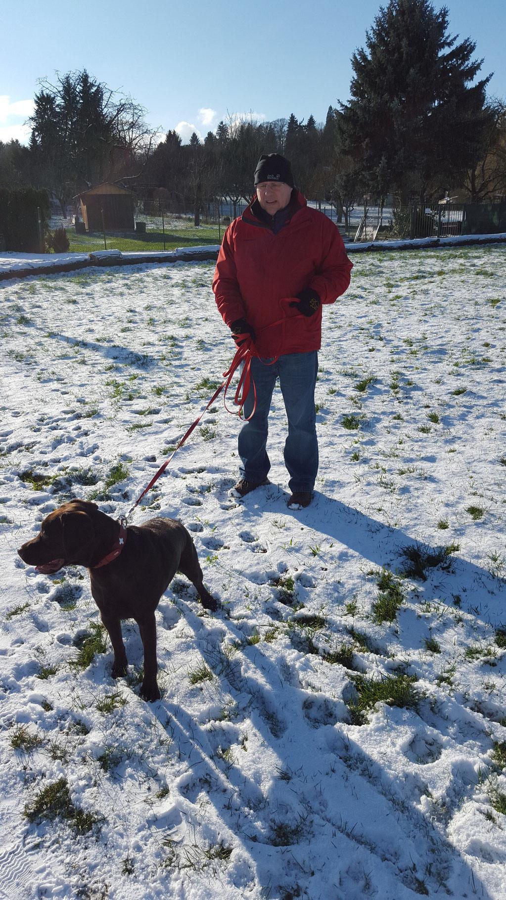 Spaziergang im Schnee...toll....