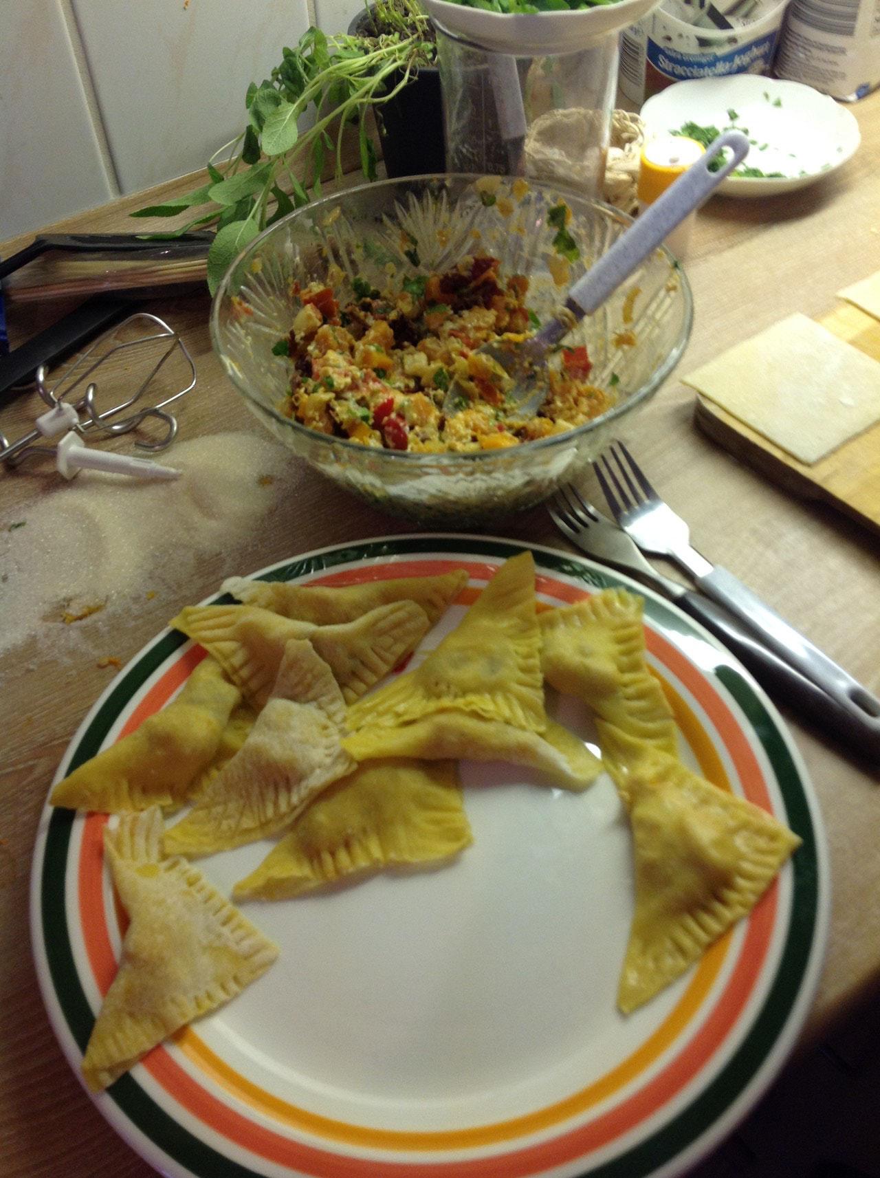 Das sieht dann so aus - 5 min Kochen und FERTIIIIIIG!