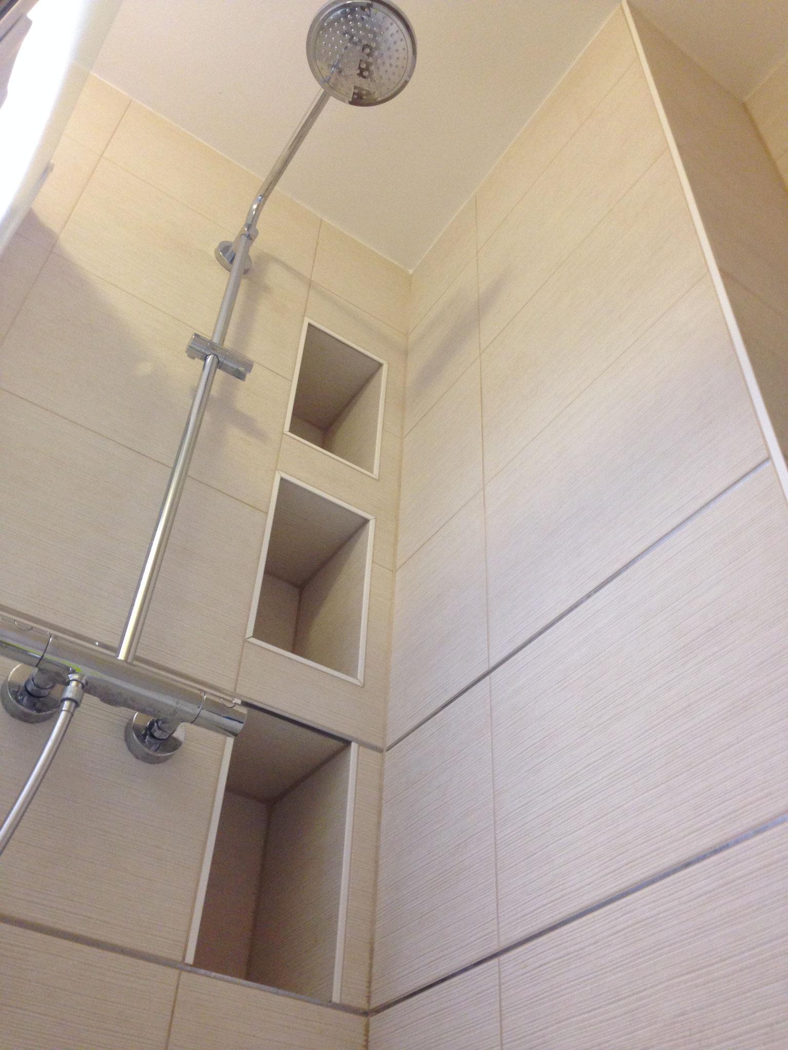 Le Chesnay – Réalisation  - Salle d'eau  - Détails de la douche
