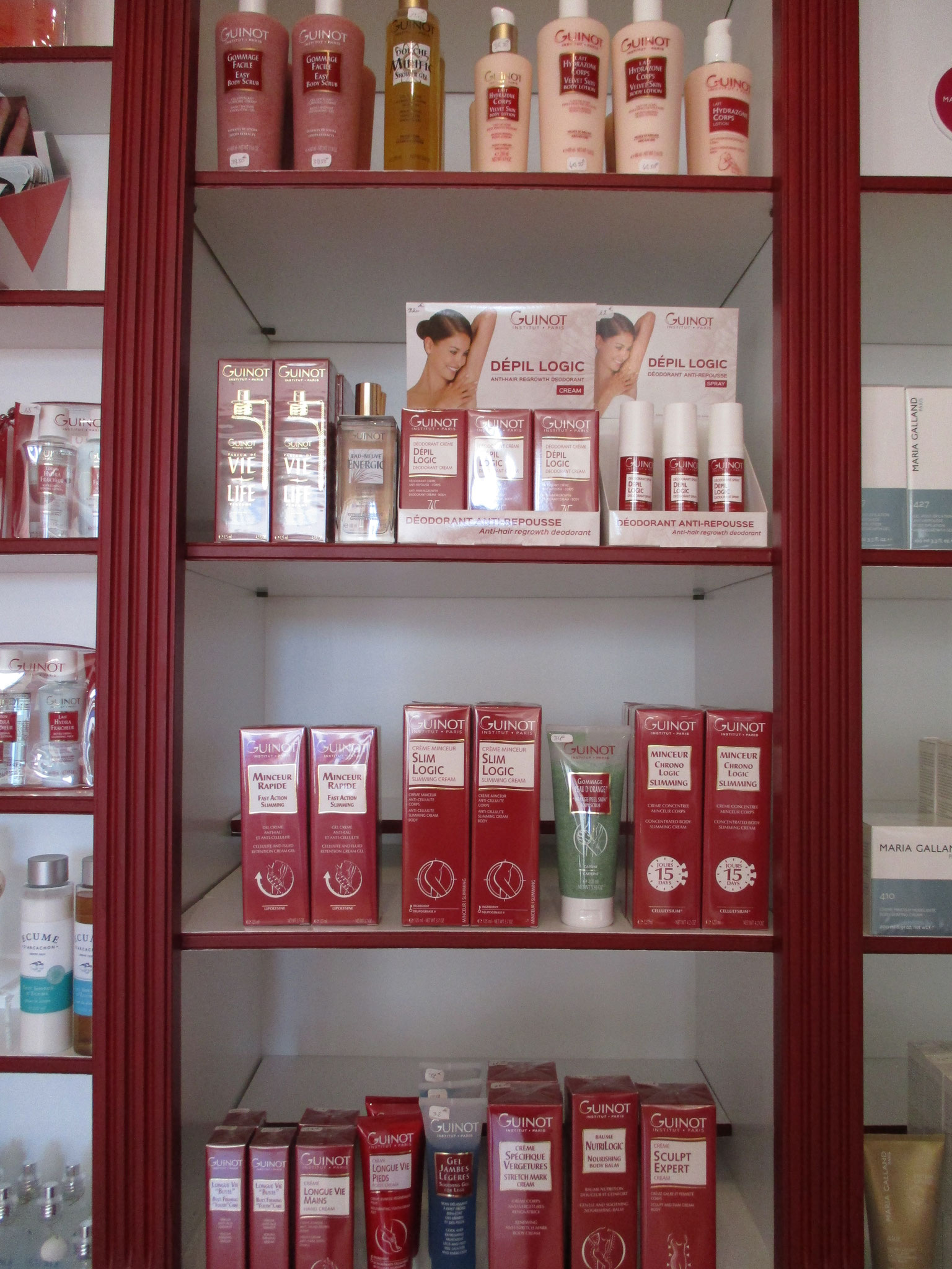 Prodduits corps Guinot Institut Grain de Beauté