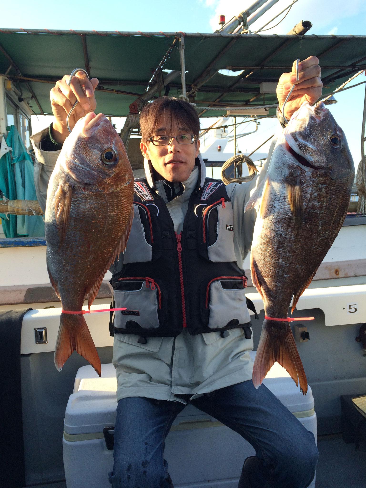 初タイラバ!!船酔いダウン(≧◇≦)からの60がらみの2fish!