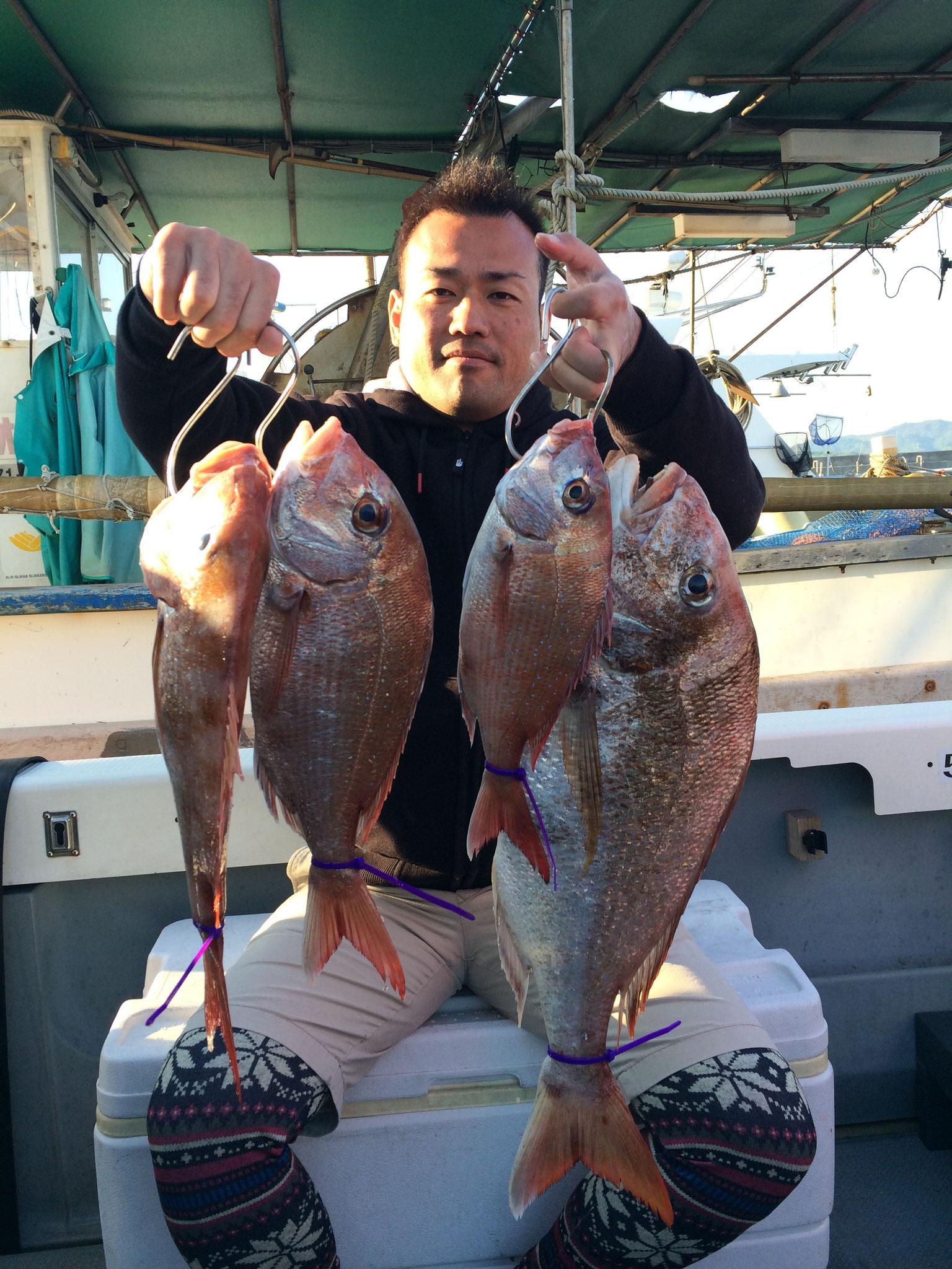 60オバー含む4fish!
