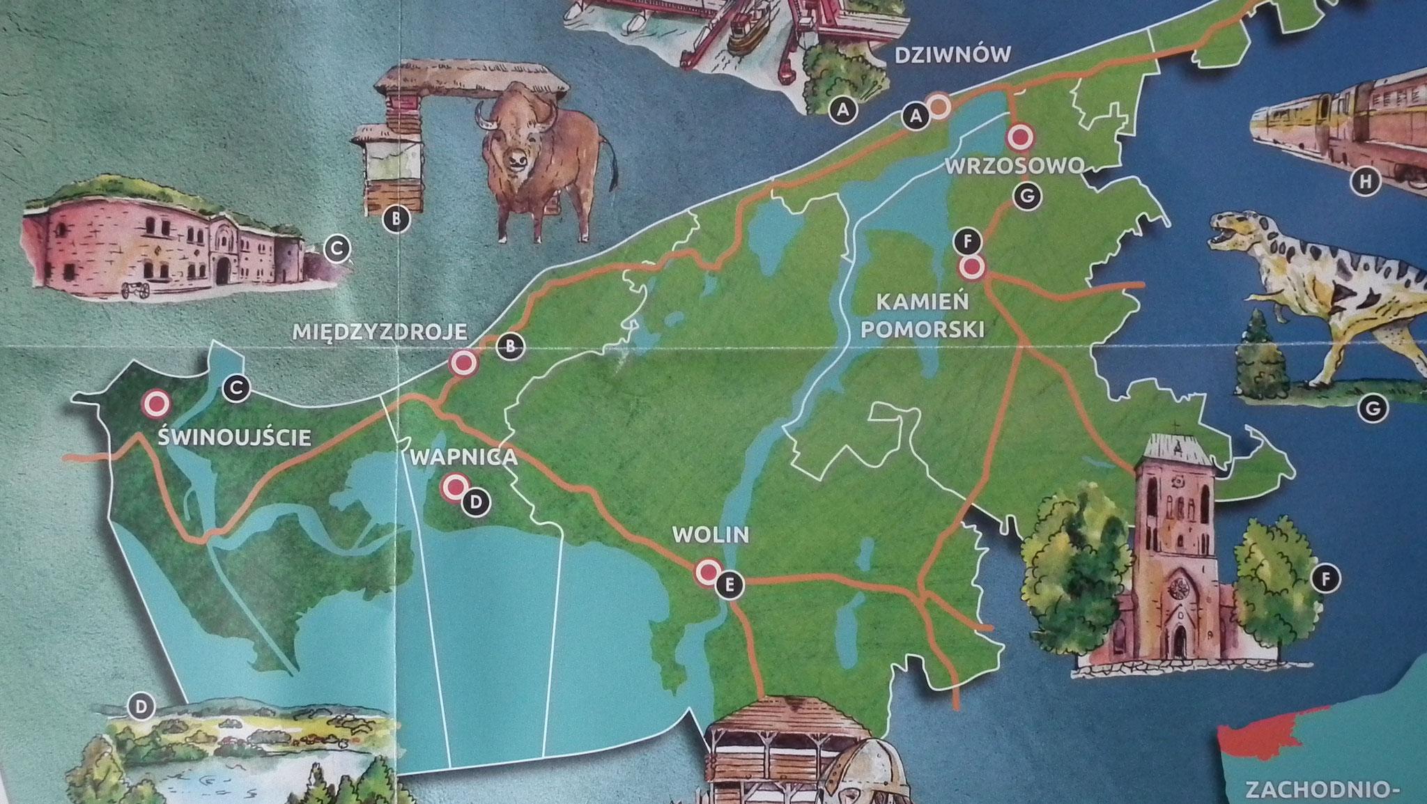 Karte Wapnica