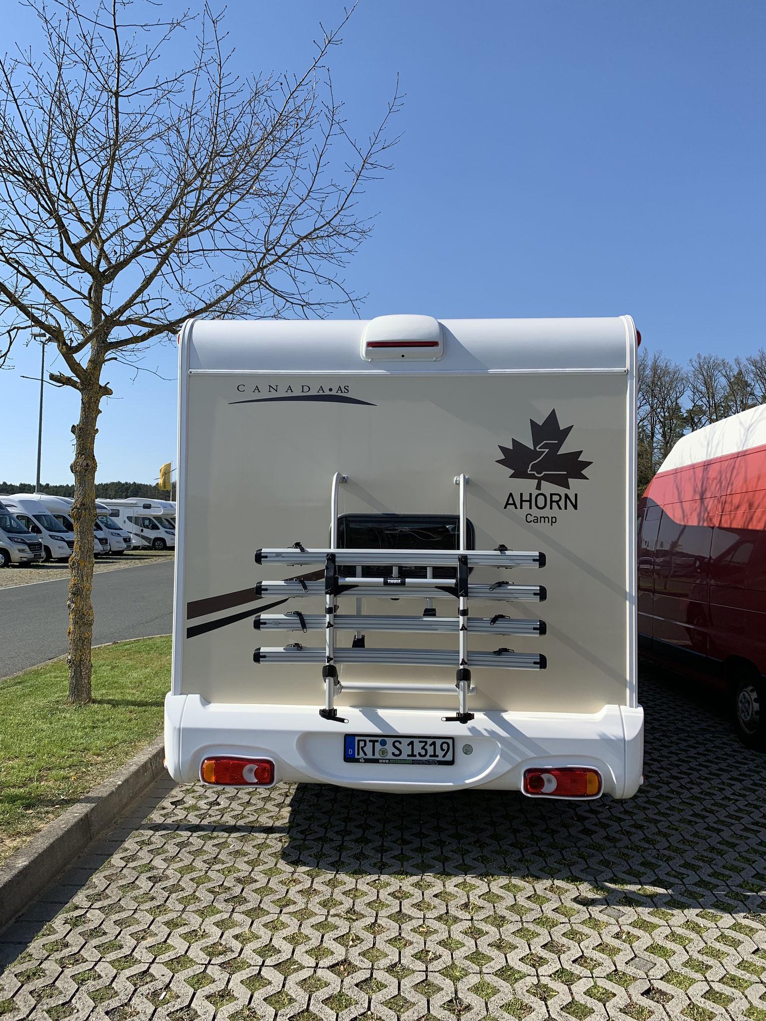 Wohnmobil von hinten