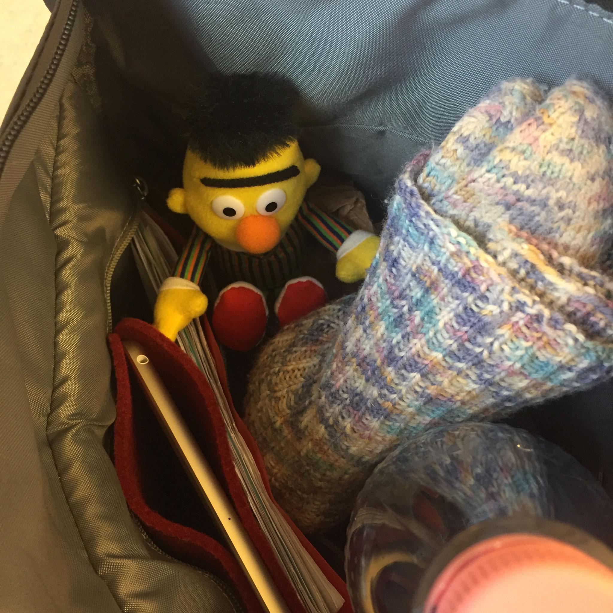 Bert war in meiner Therapietasche immer bei mir.