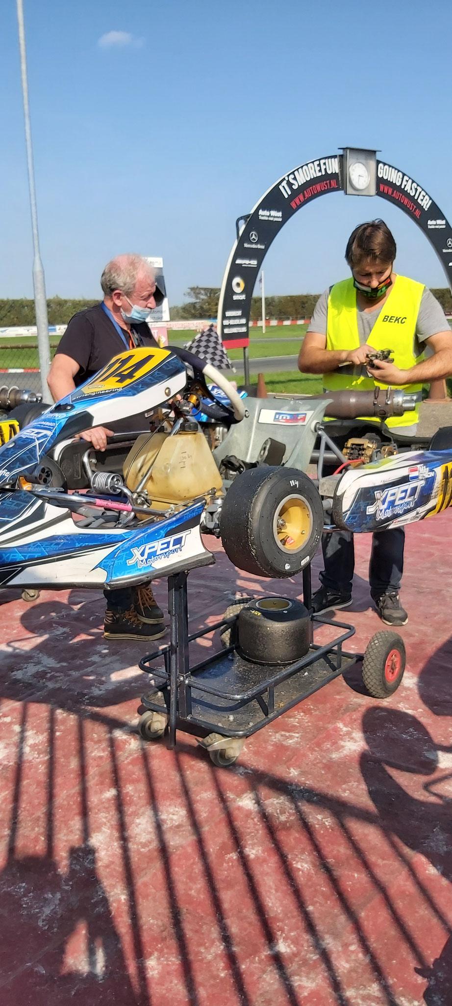 Na de race moet de top 3 een extra technische controle uit laten voeren.