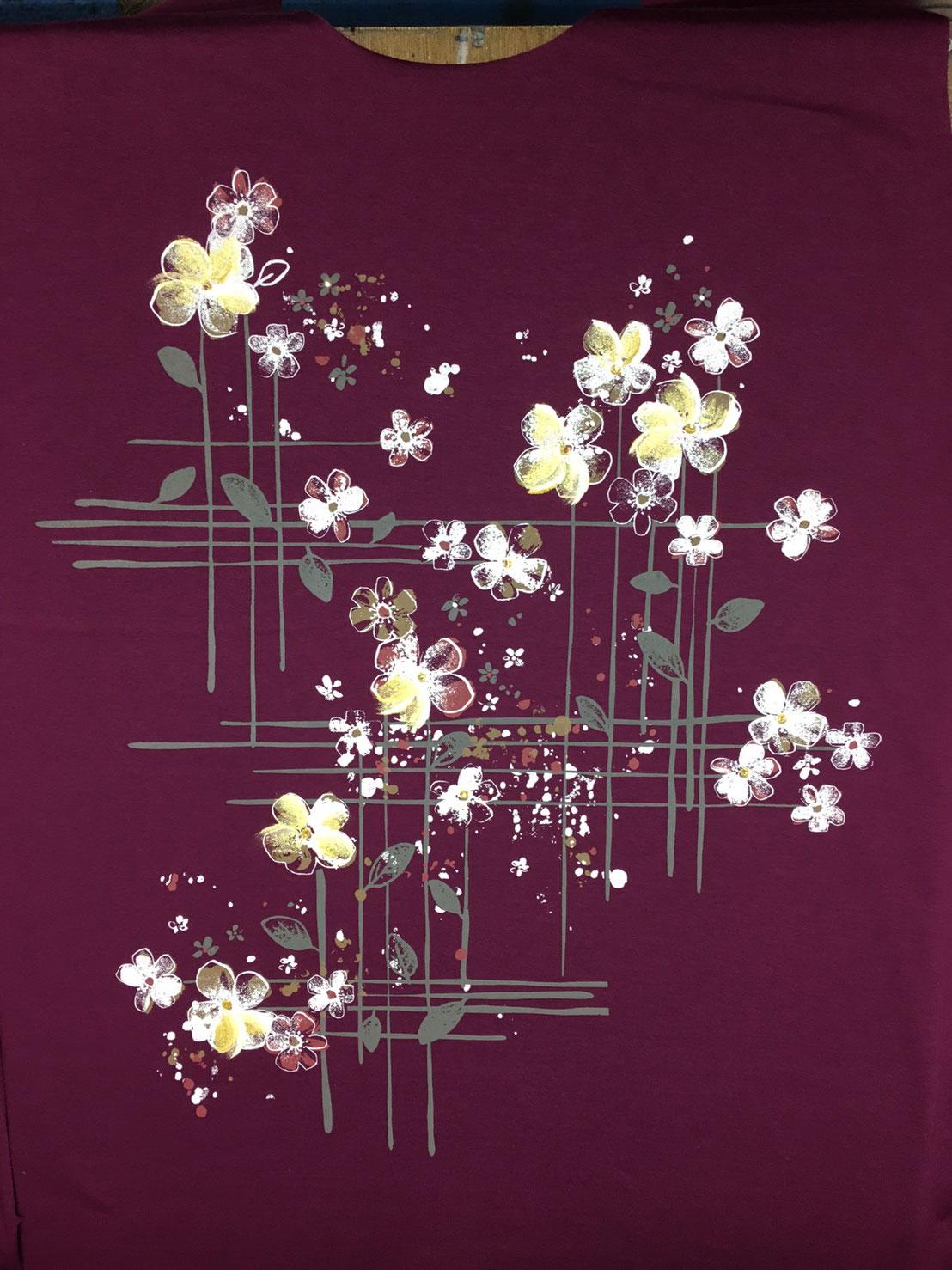 プリント,加工,手描き,婦人Tシャツ,アパレル,衣料,OEM
