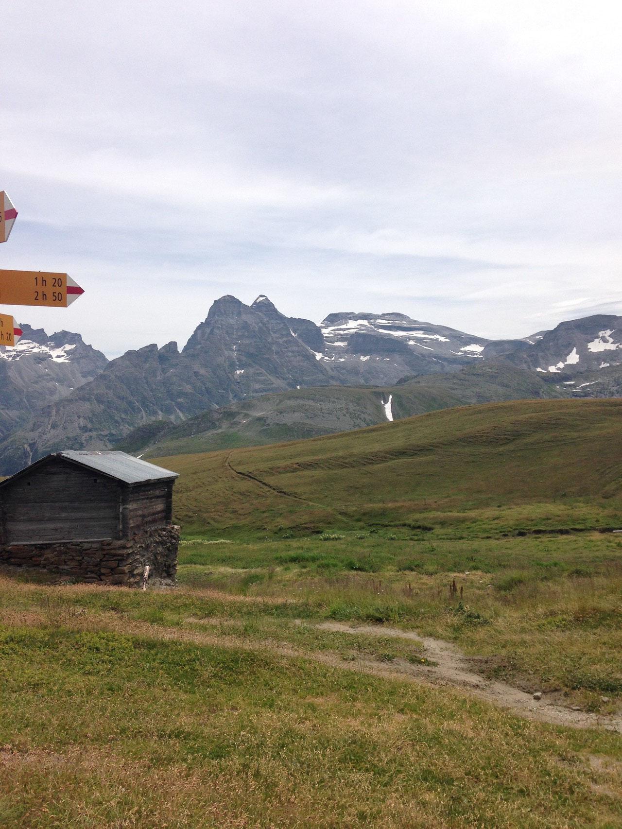 Furggerchäller 2430m ü. M. ab hier 30min Tragepassage bis zum Gipfel