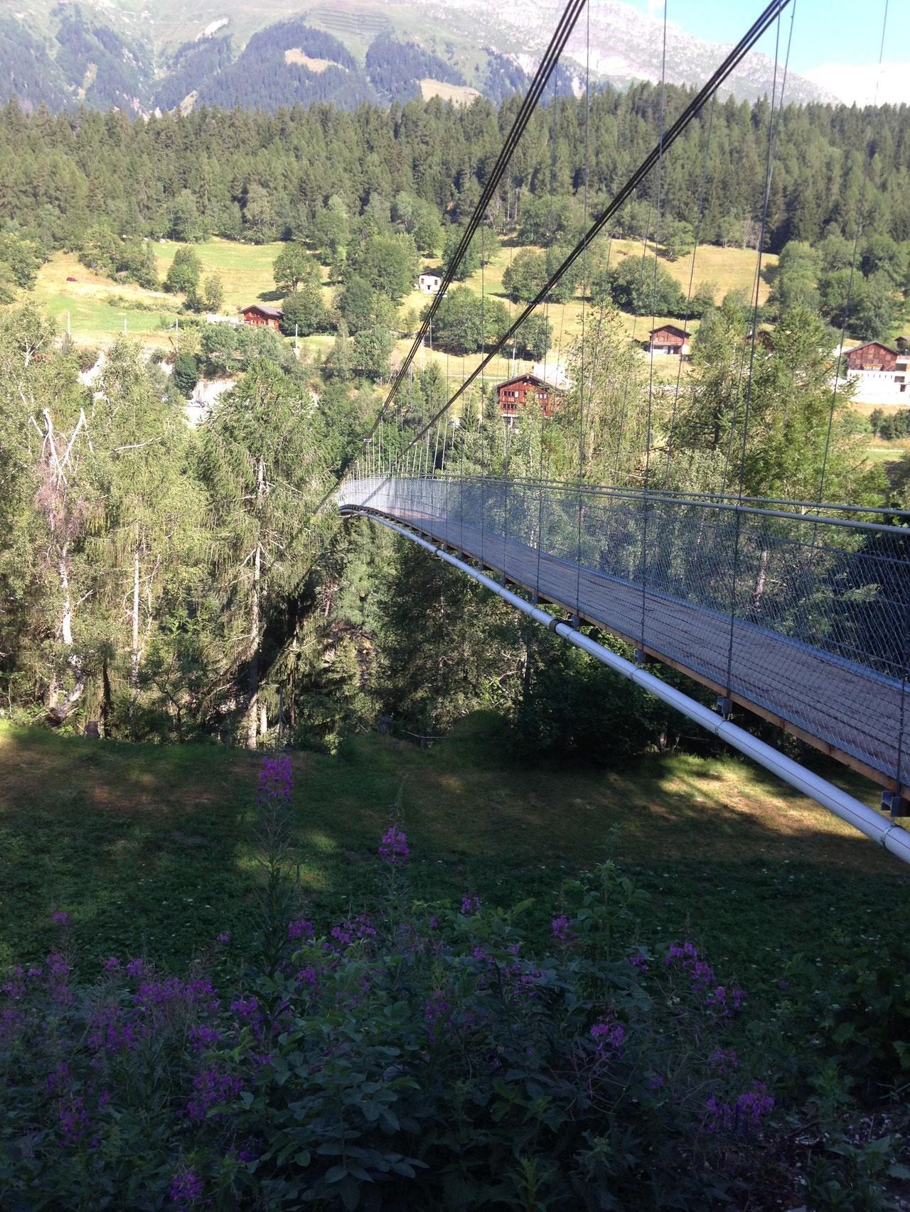 Hängebrücke Fürgangen-Mühlebach (21. Juli 2015)