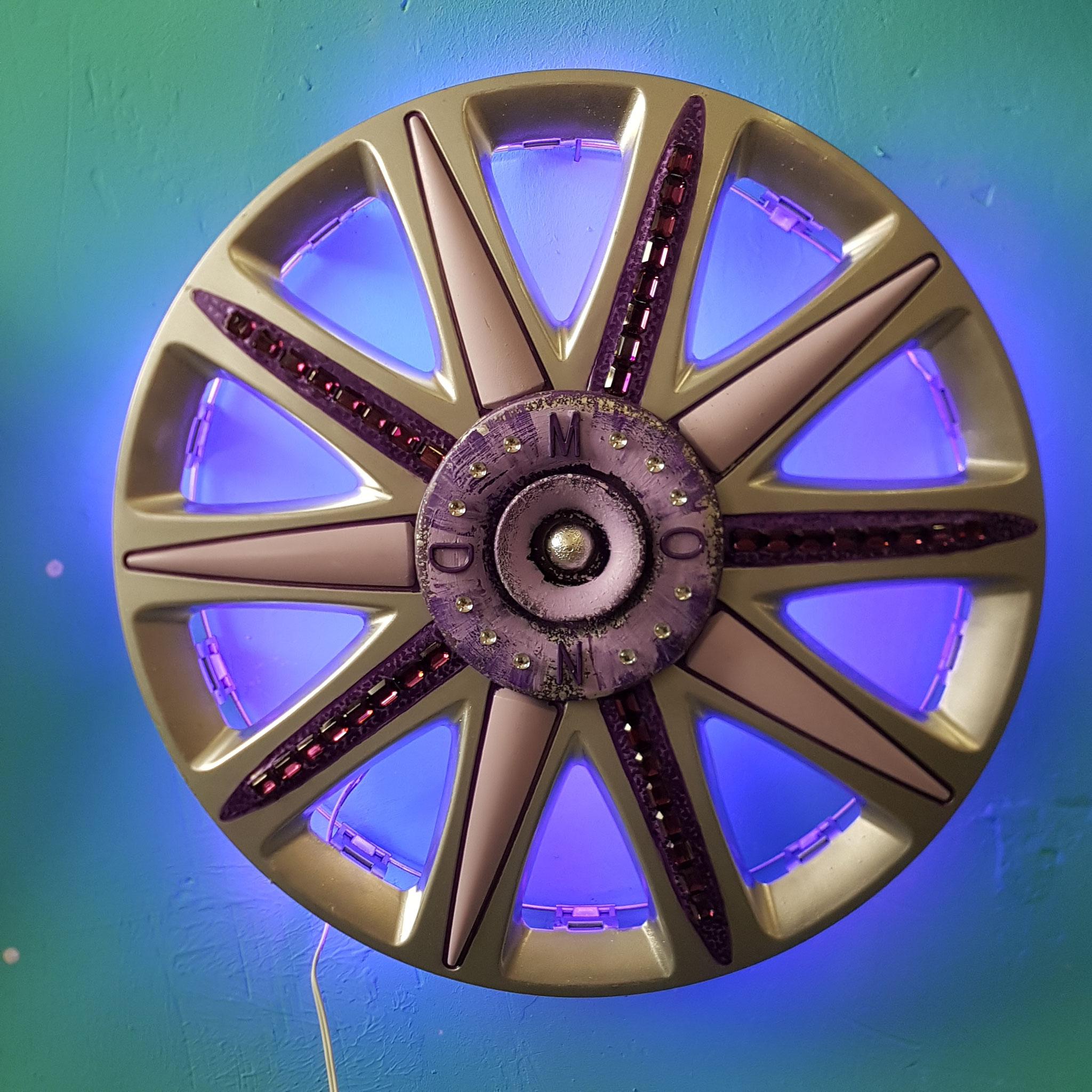 MOON Wheel Cover, Acrylics, Swarovski Rhinestones