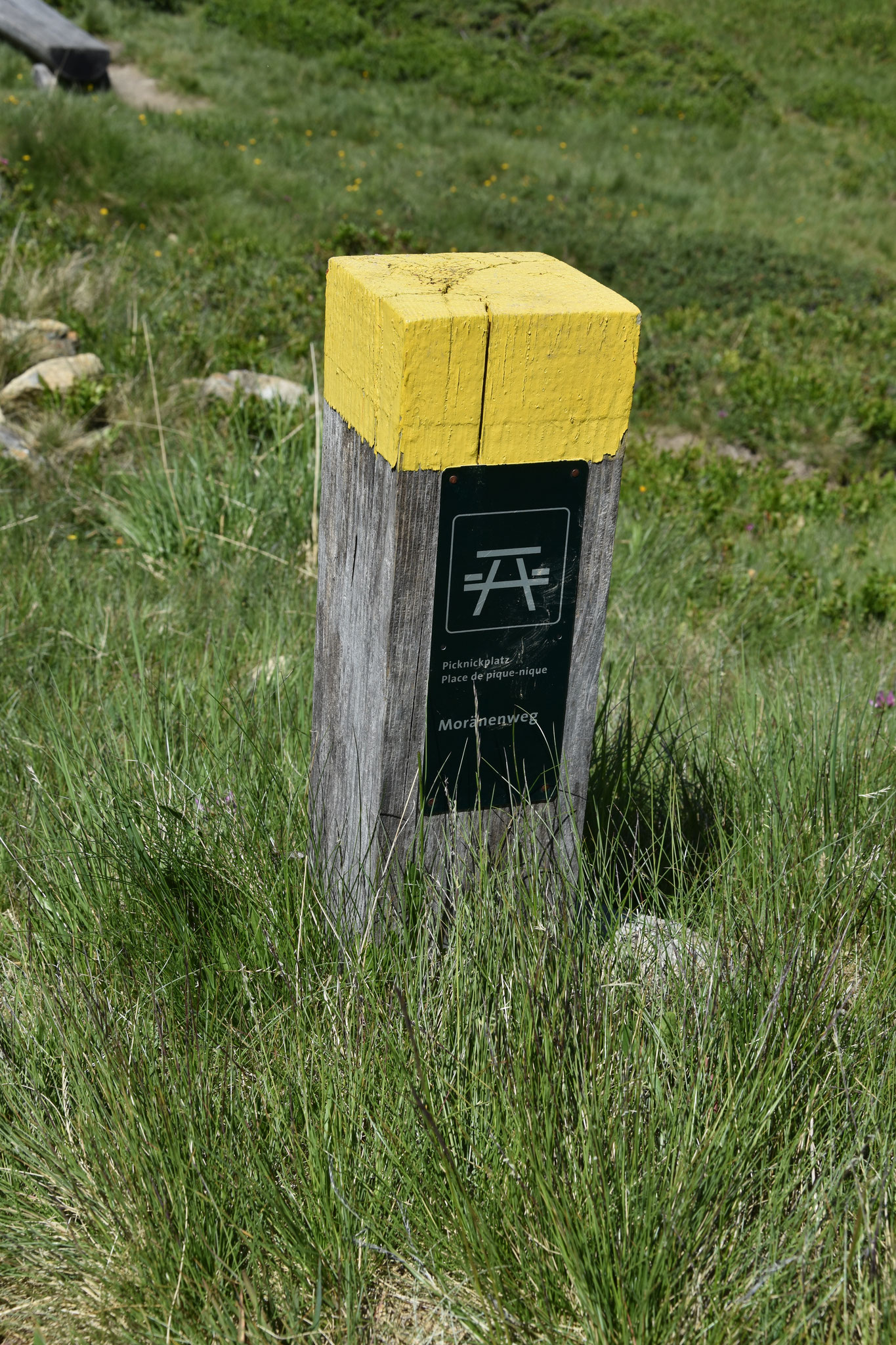 Picknickplatzmarkierung im Naturschutzgebiet