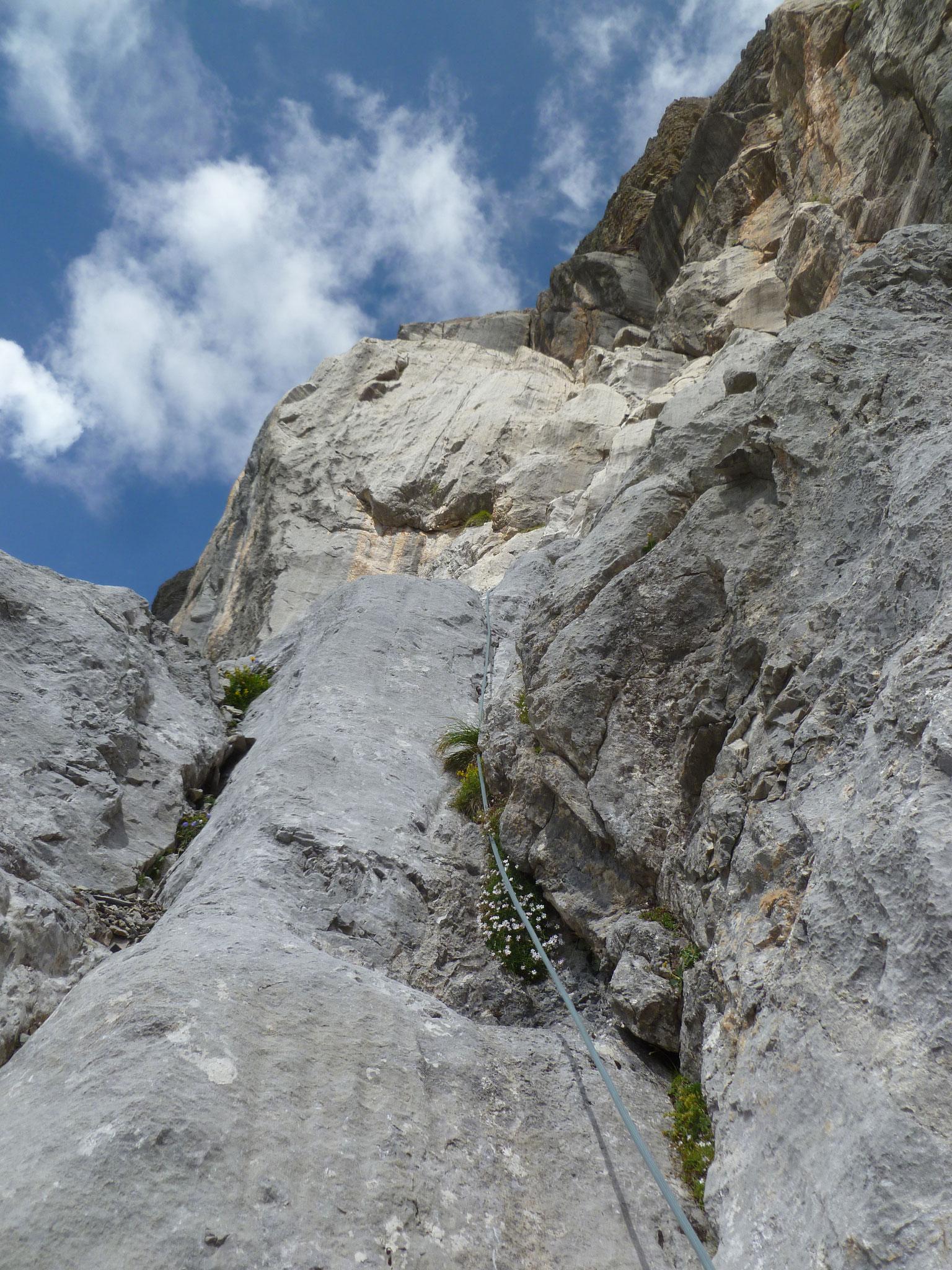 Die Felsqualität ist wechselhaft