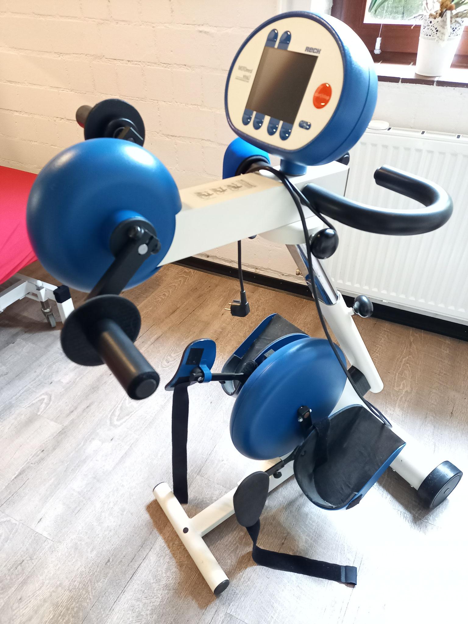 Ergänzend kann am Motomed die Beweglichkeit erhalten oder verbessert werden, Körperfunktionen gestärkt und Schmerzen gelindert werden