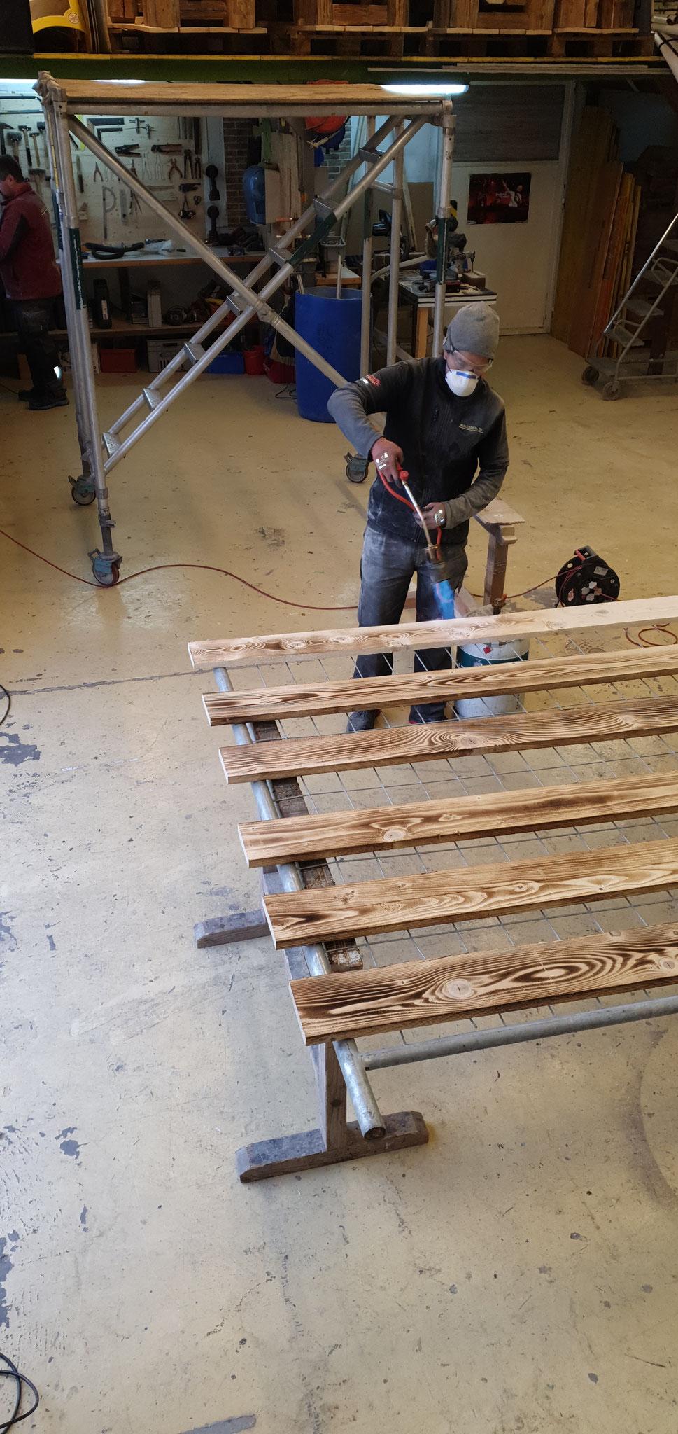 Holzbau Bretter Kulissen