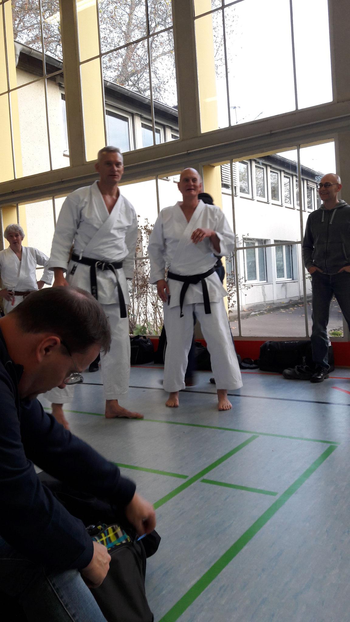 Karate Dan Prüfung von Gerd Wegner mit Partner Thomas Neumann