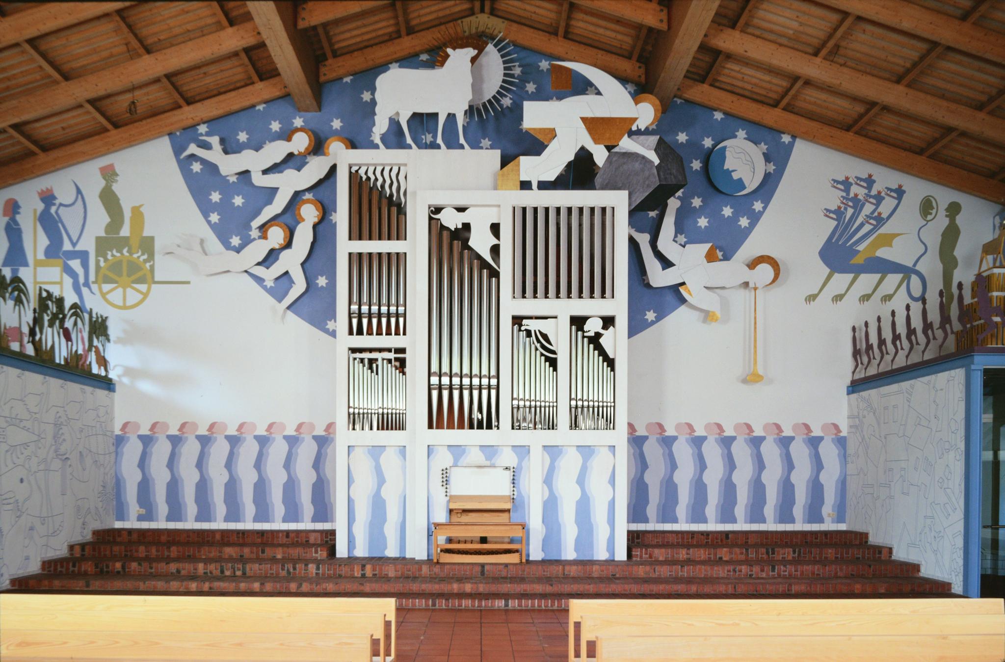 Mur du fond: Apocalypse et buffet d'orgues, 1994 - Foto Hadler