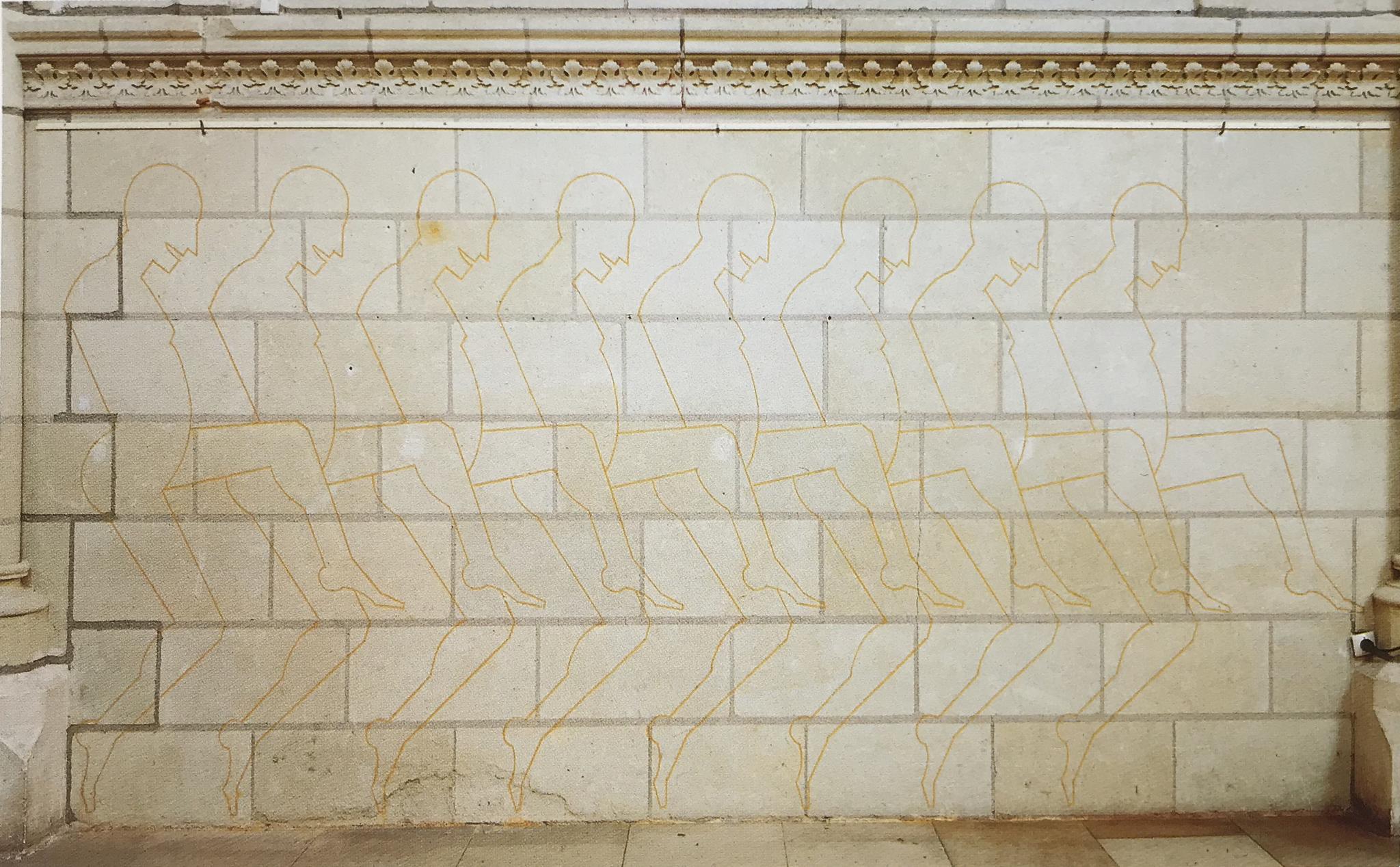 Danseurs (détail), peinture murale, 2000 -Foto A. Morin