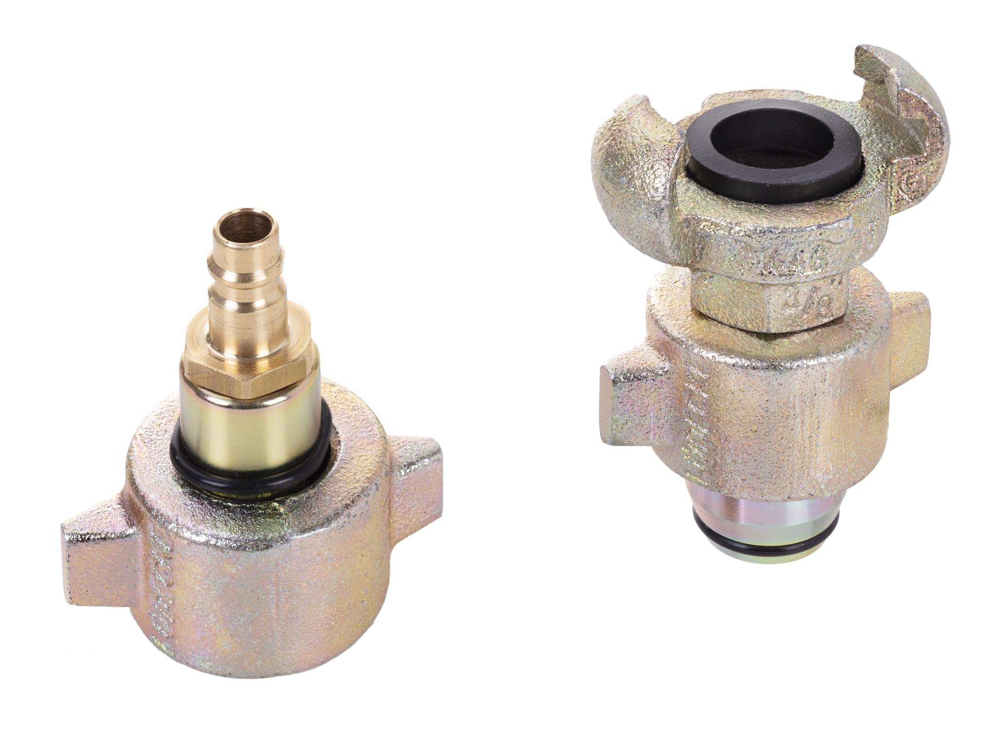 Adapter zum Inertisieren von Stickstoff oder Druckluft