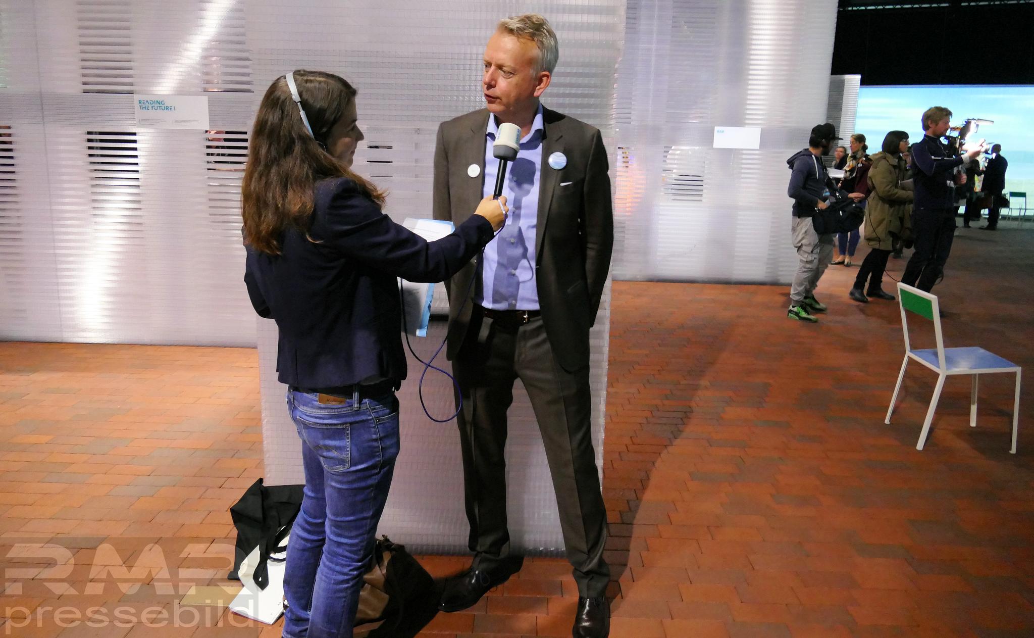 SWR Interview © Klaus Leitzbach/FRANKFURT MEDIEN.net