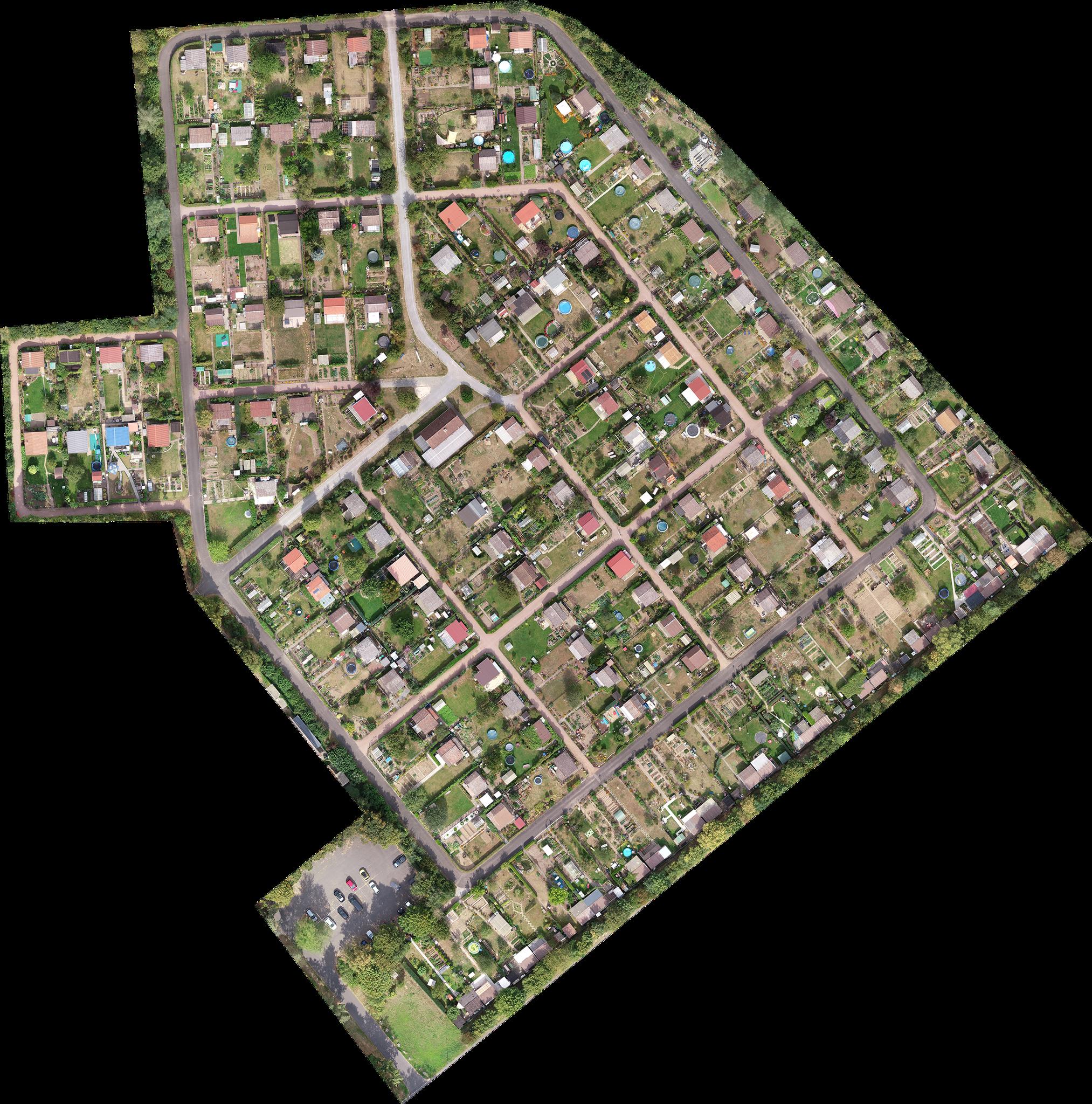 Orthofoto - Kleingarten Aschaffenburg