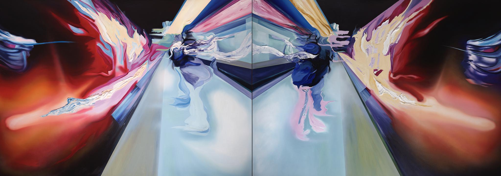 Icaro Diptico 180 cm x 500 cm Acryl auf Leinwand 2011