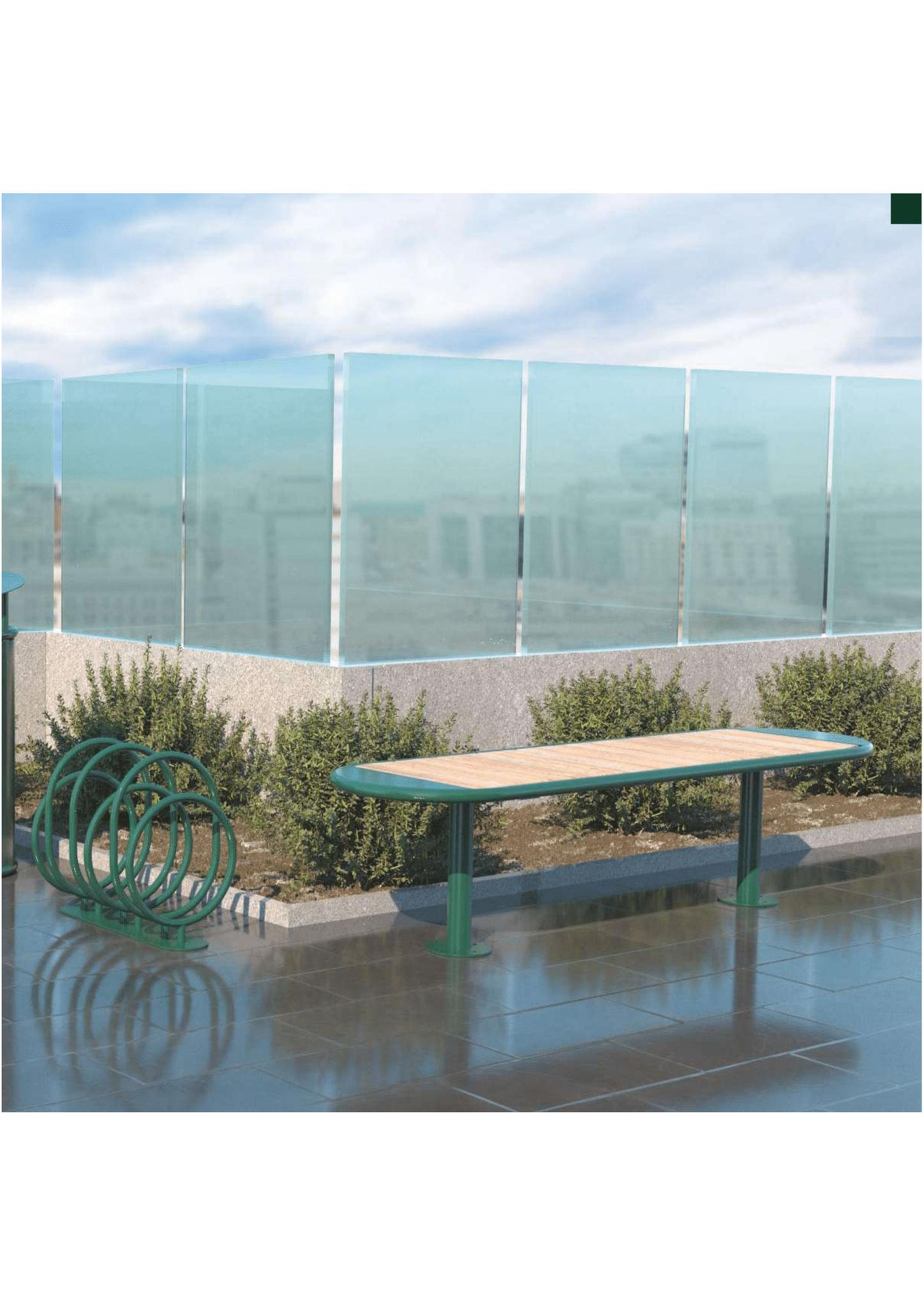 Moderne Outdoormöbel aus Stahl und Holz