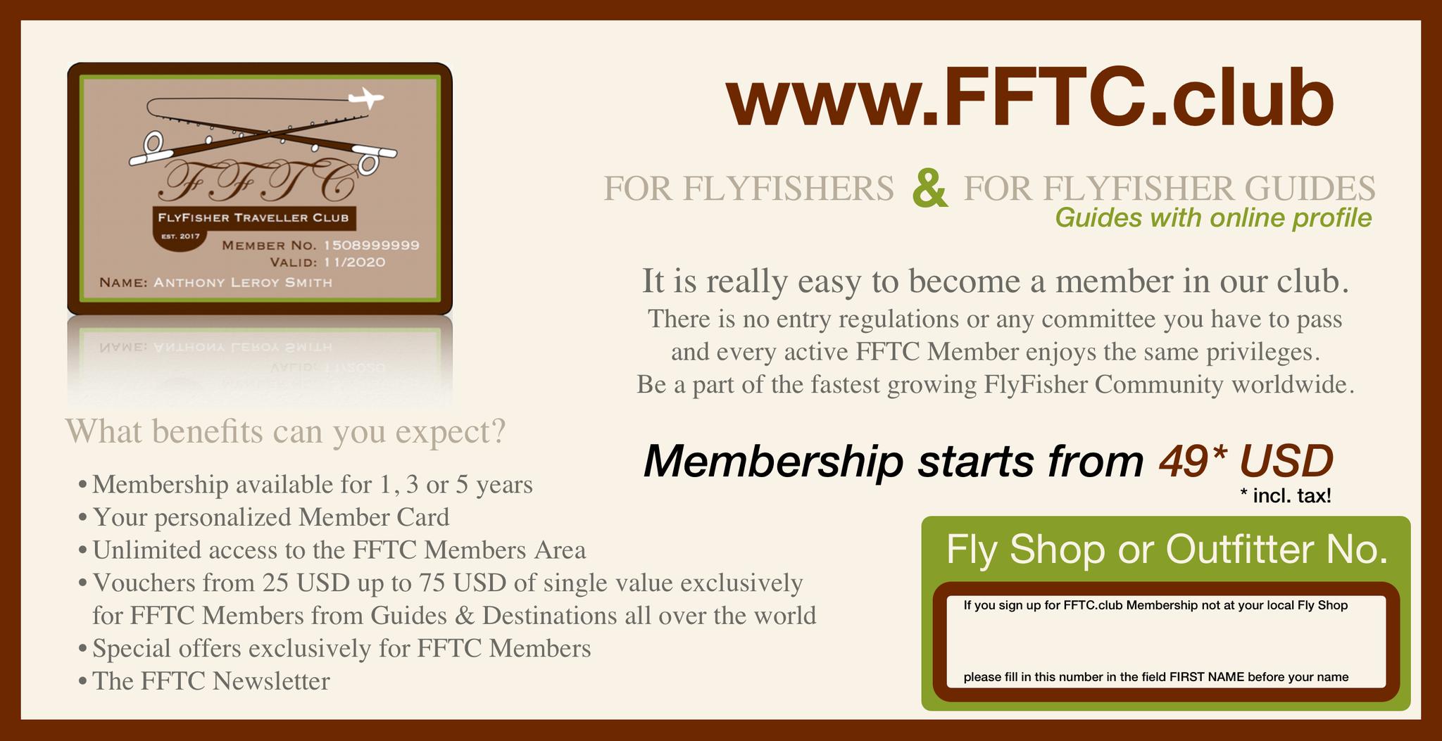 FFTC.club - Fly Fisher Membership - Backside Flyer 2017!