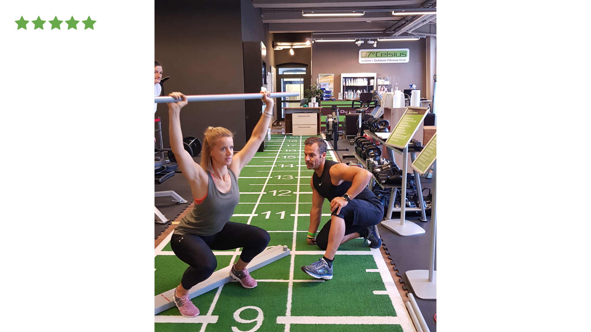 Functionalmovementscreen mit Steffi Reischl im 37° Celsius Fitnessclub in Rosenheim
