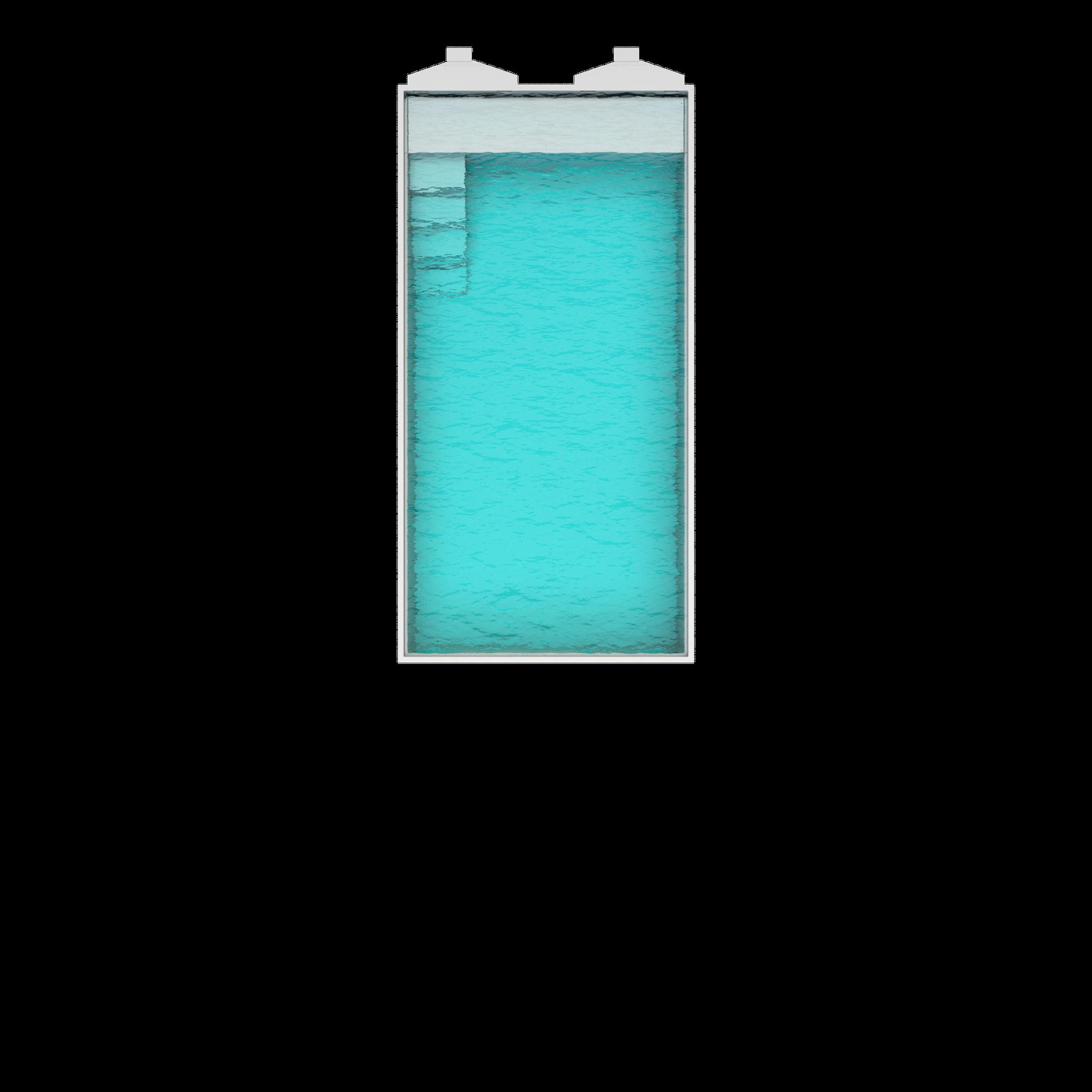 Nova 80  Länge : 8m | Breite : 4,10m | Tiefe : 1,55m Inhalt: 45000 liter
