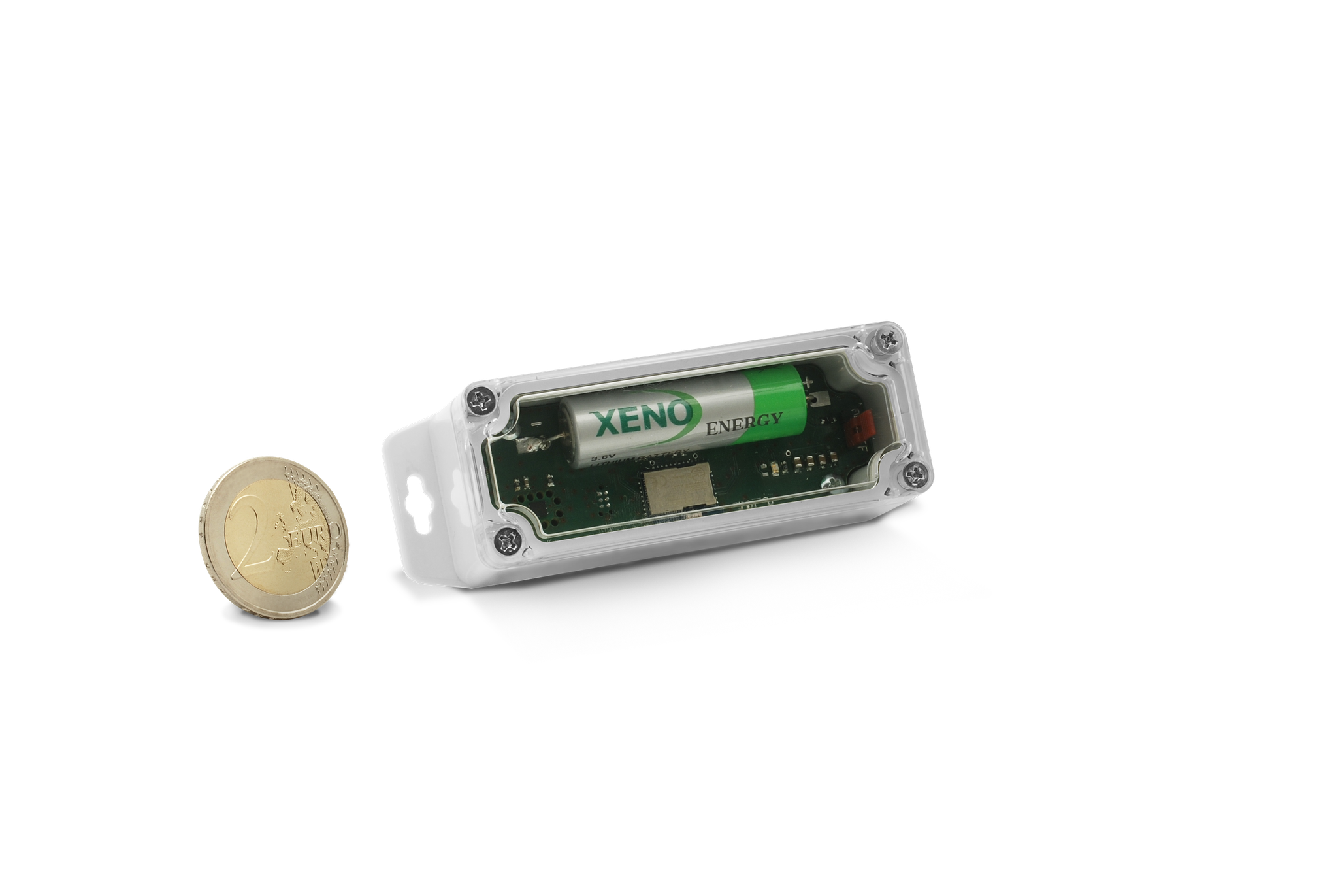 Industrial Smart TAG - extensive range of sensors possible, e.g. for temperature, humidity, light, air pressure, gas, carbon dioxide,  3-D movement/shock/vibration (Inertial-Sensor) and others