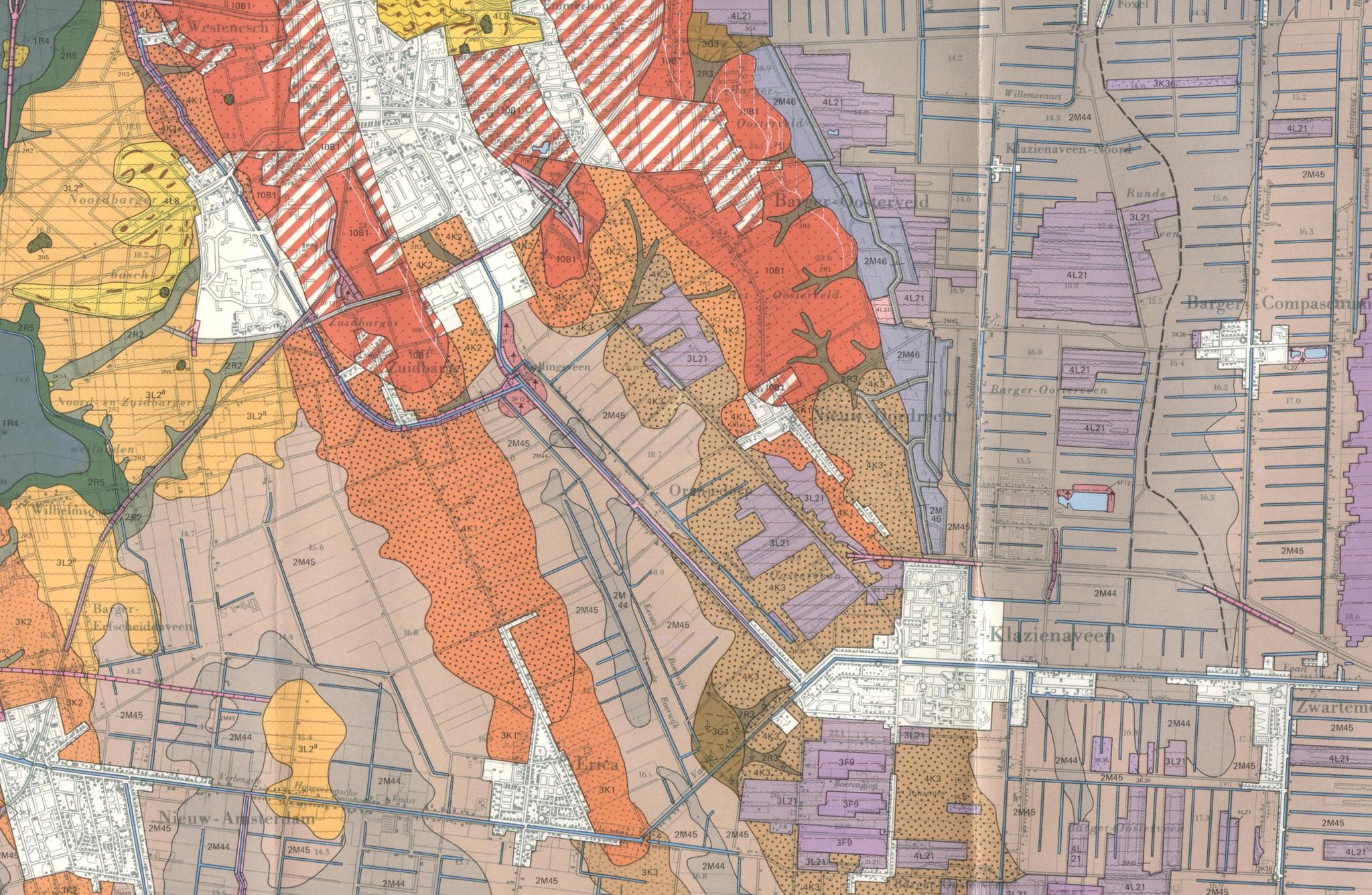 geomorfologische kaart omgeving Erica