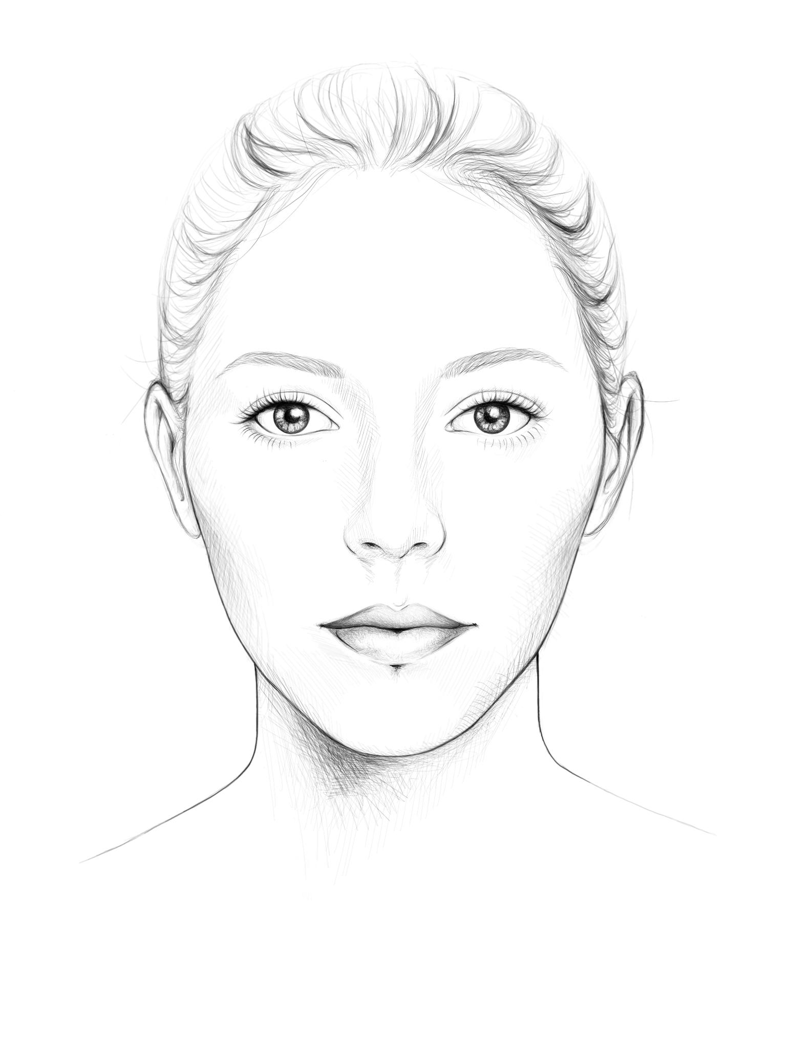diamantförmiges Gesicht