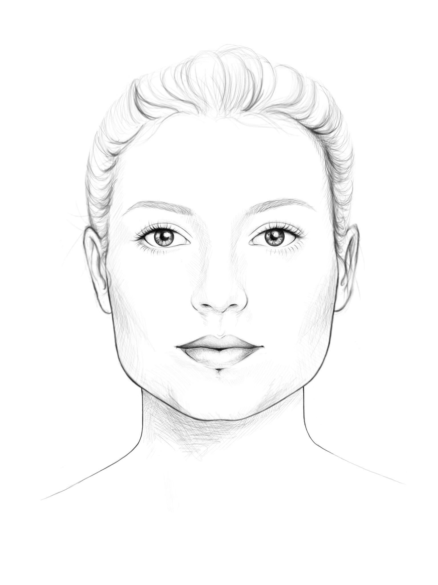 quadratisches Gesicht