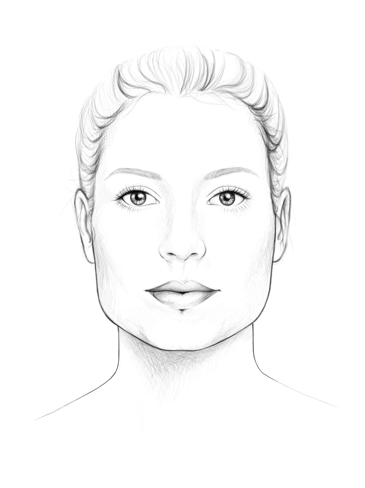 trapezförmiges Gesicht