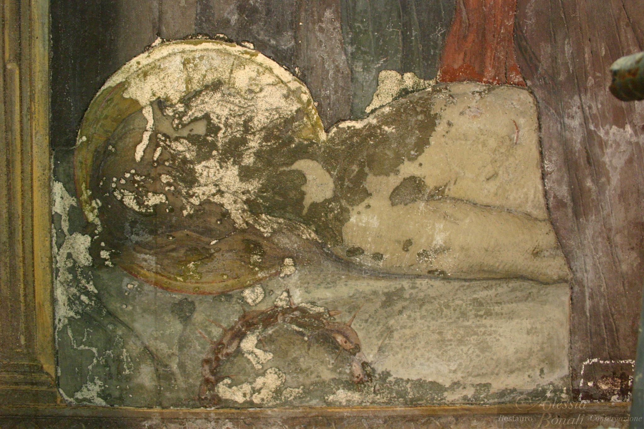 Particolare prima del restauro
