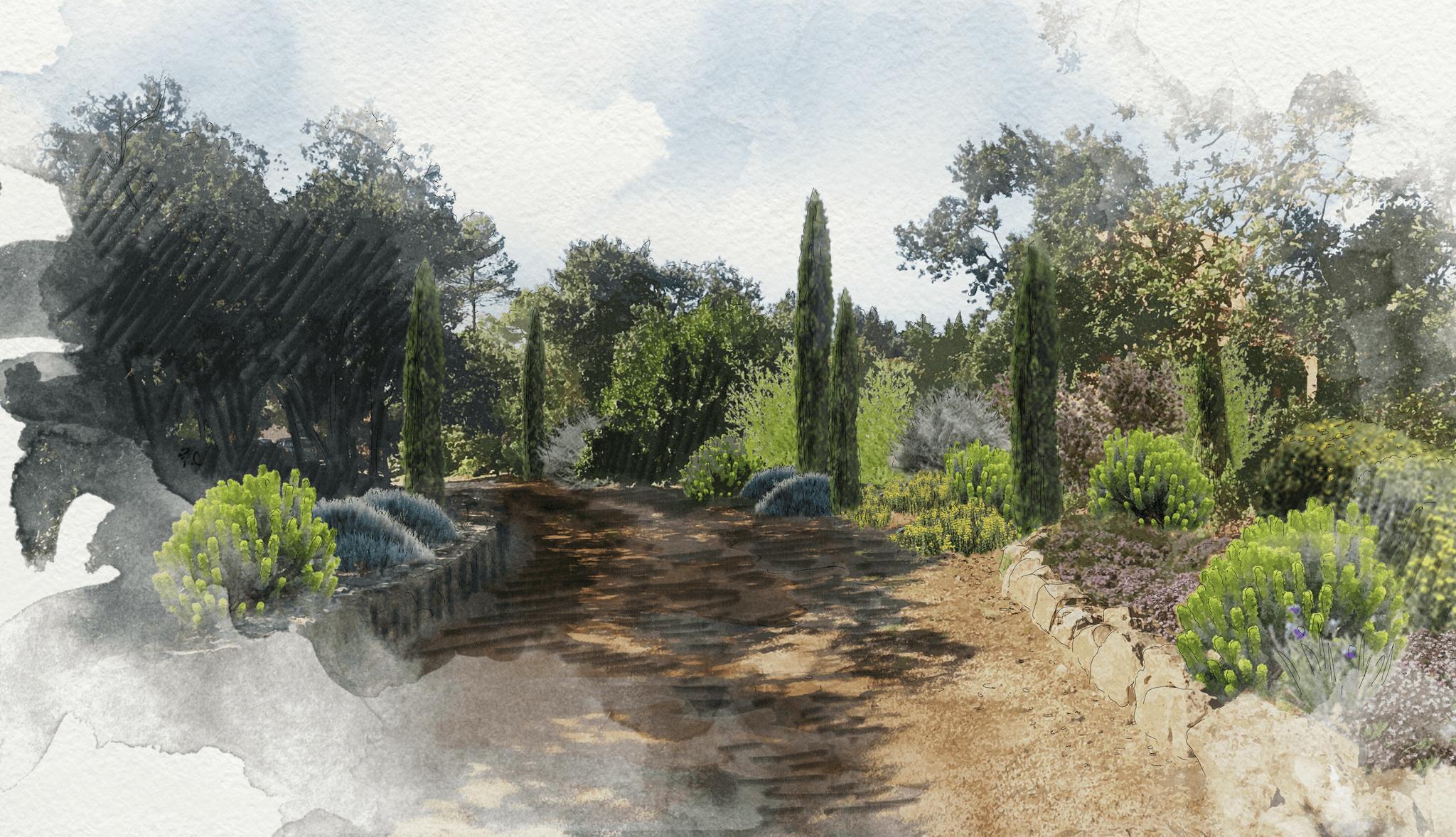 Aménagement d'un jardin à Saint-Marc-Jaumegarde © Rc-Paysage