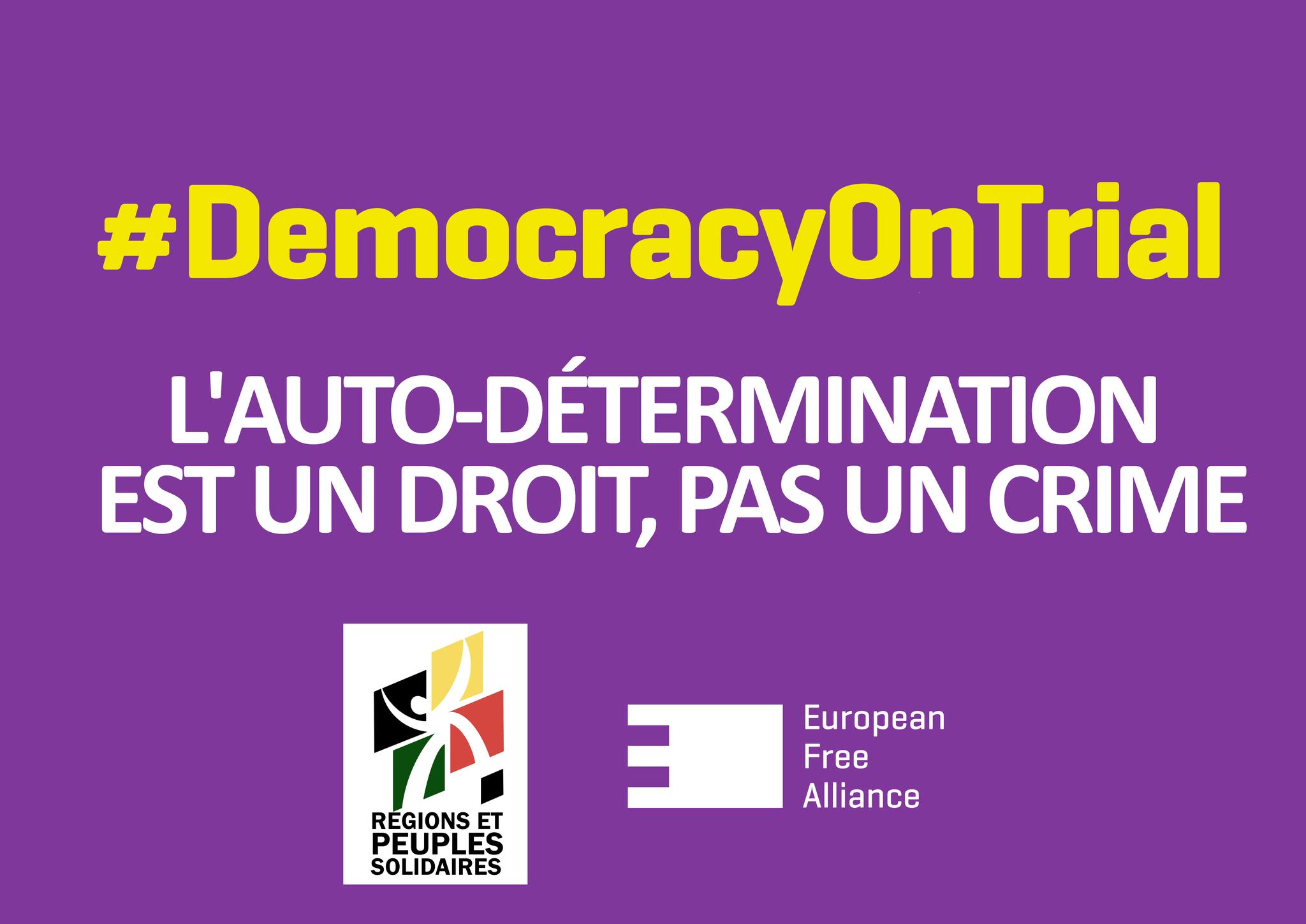 L'AUTO-DÉTERMINATION N'EST PAS UN CRIME ALORS LIBÉREZ LES PRISONNIERS POLITIQUES CATALANS !